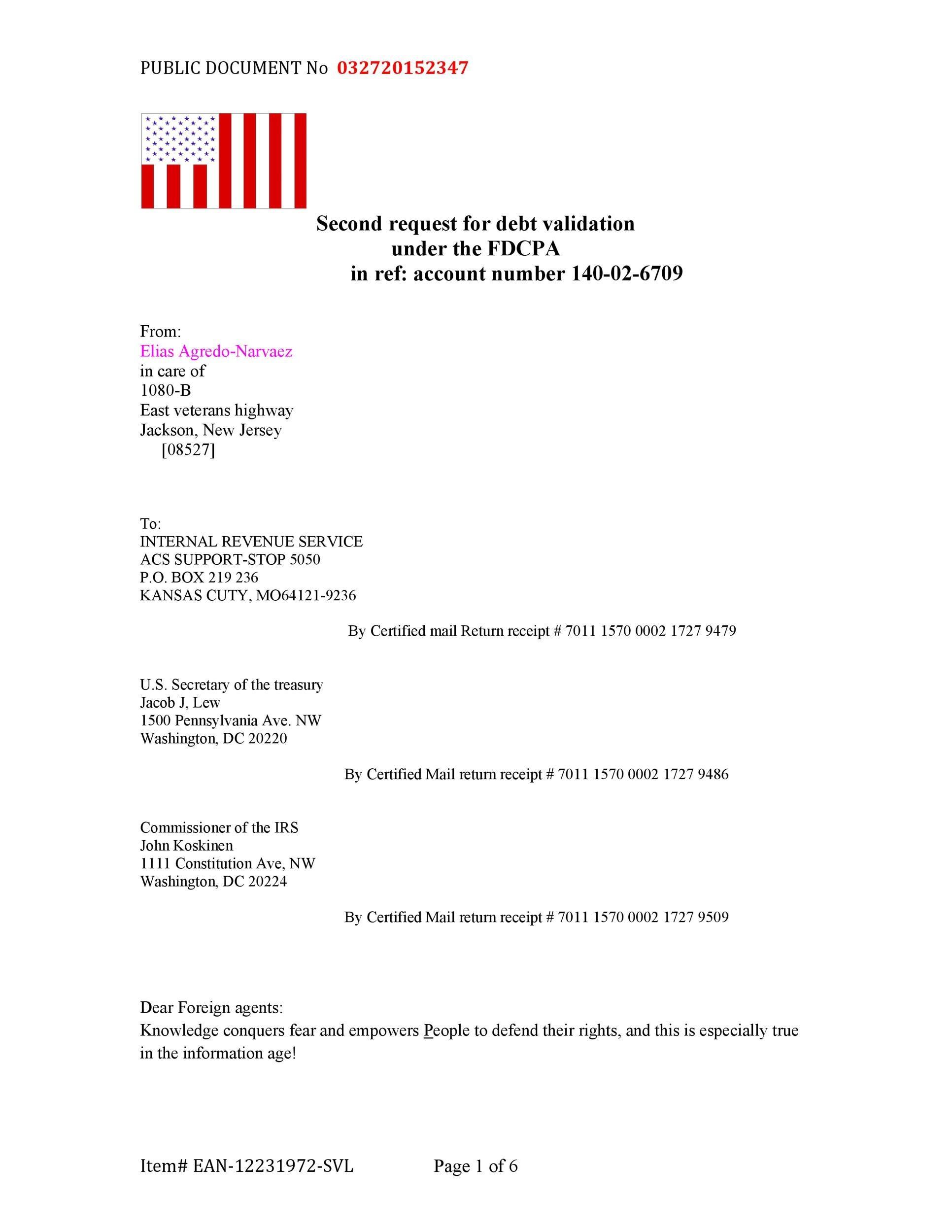 Free debt validation letter 49