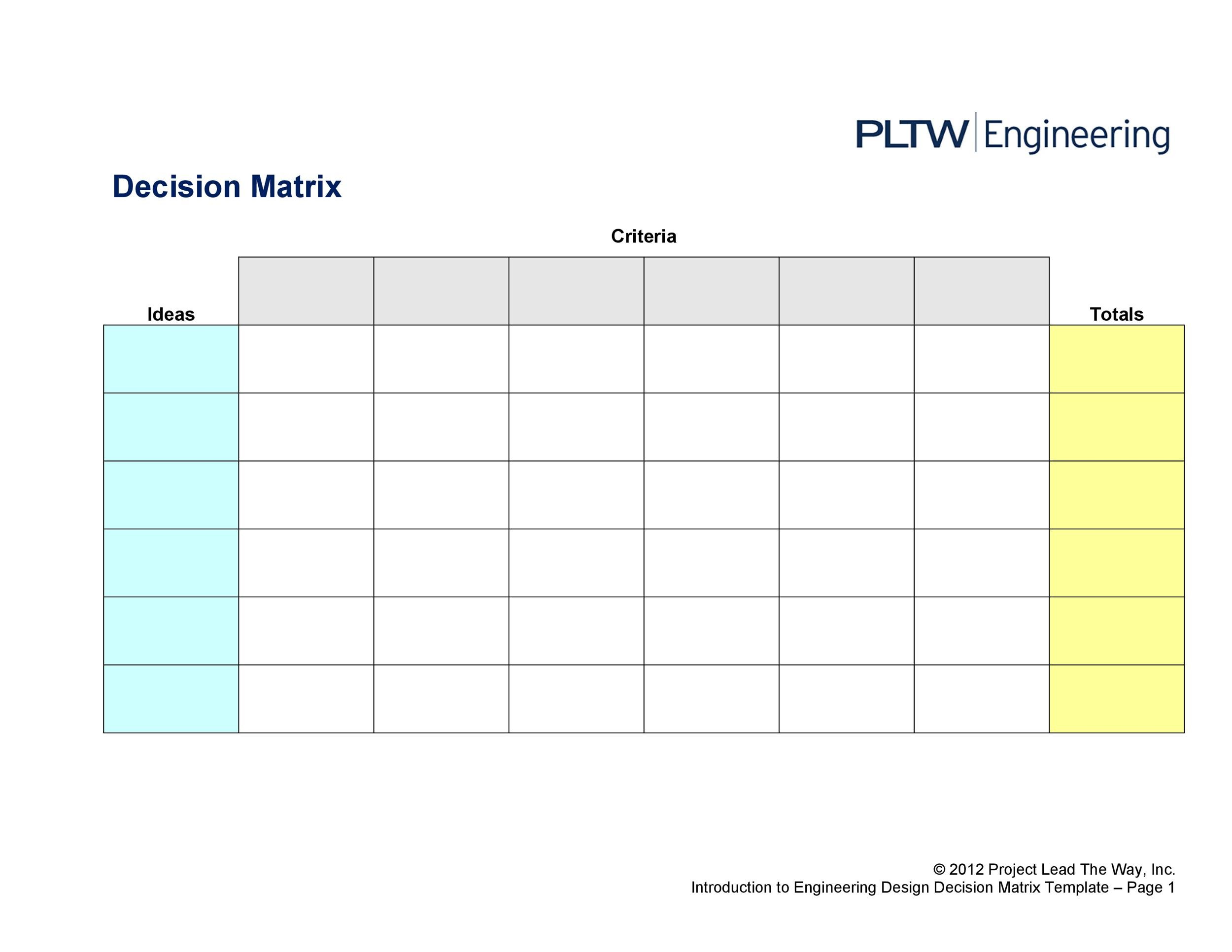 Free decision matrix template 08