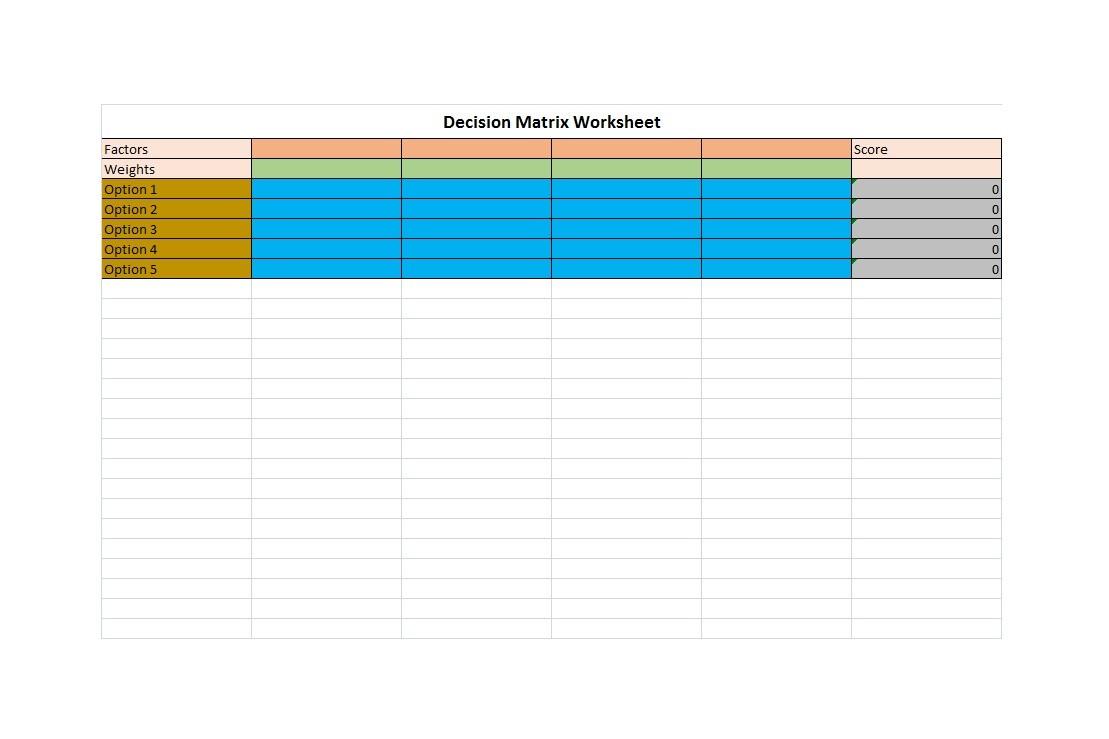 Free decision matrix template 14