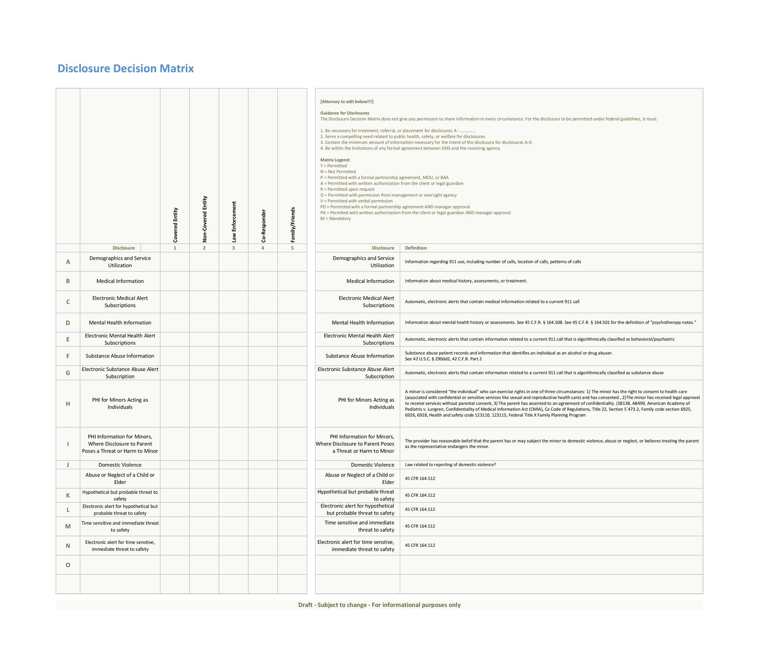 Free decision matrix template 18