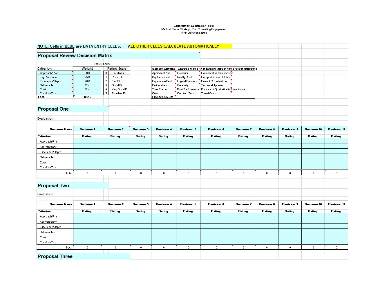 Free decision matrix template 21