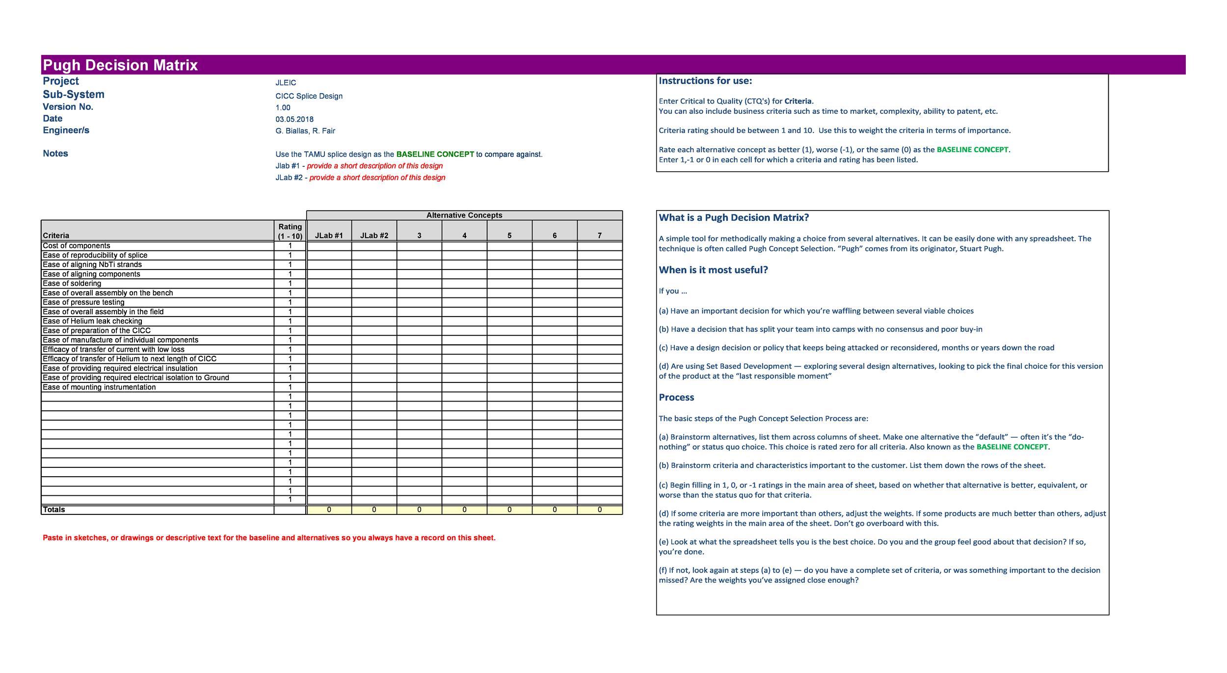 Free decision matrix template 23