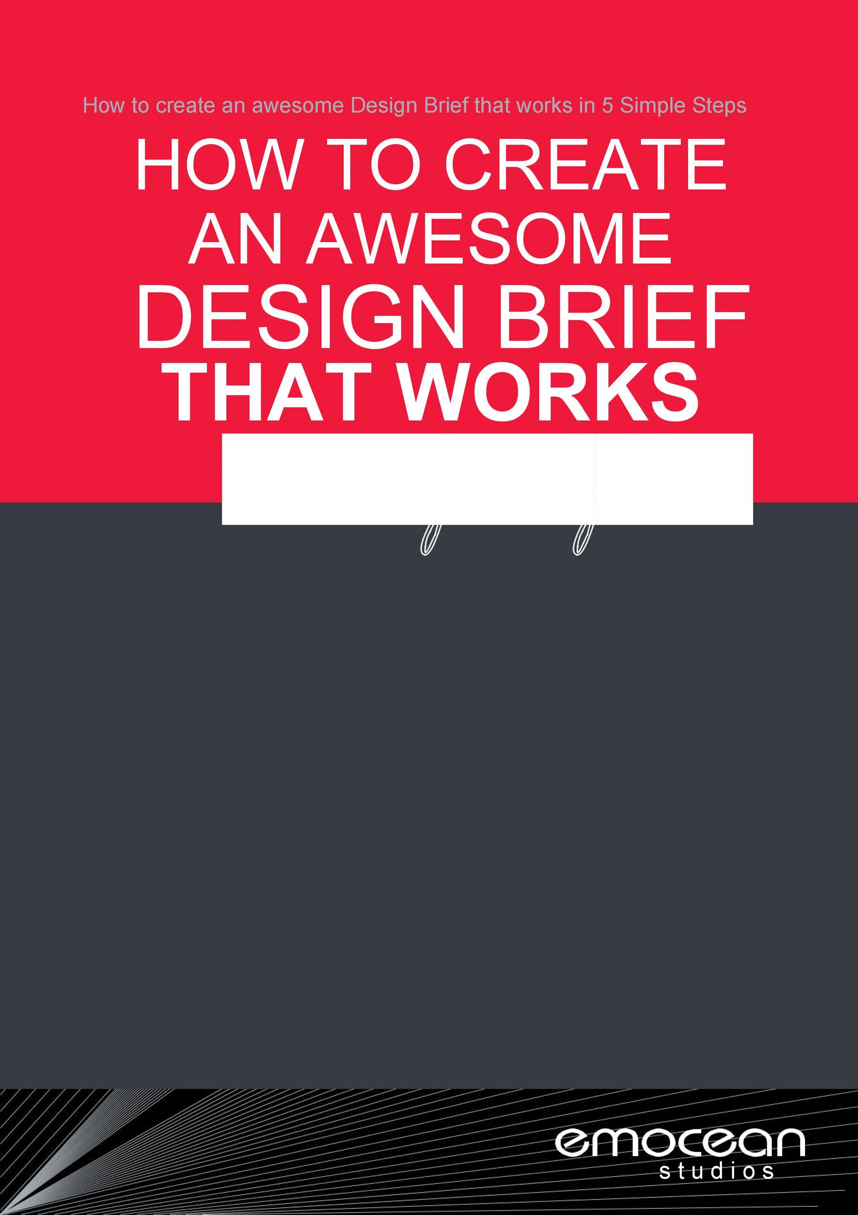 Free design brief template 01