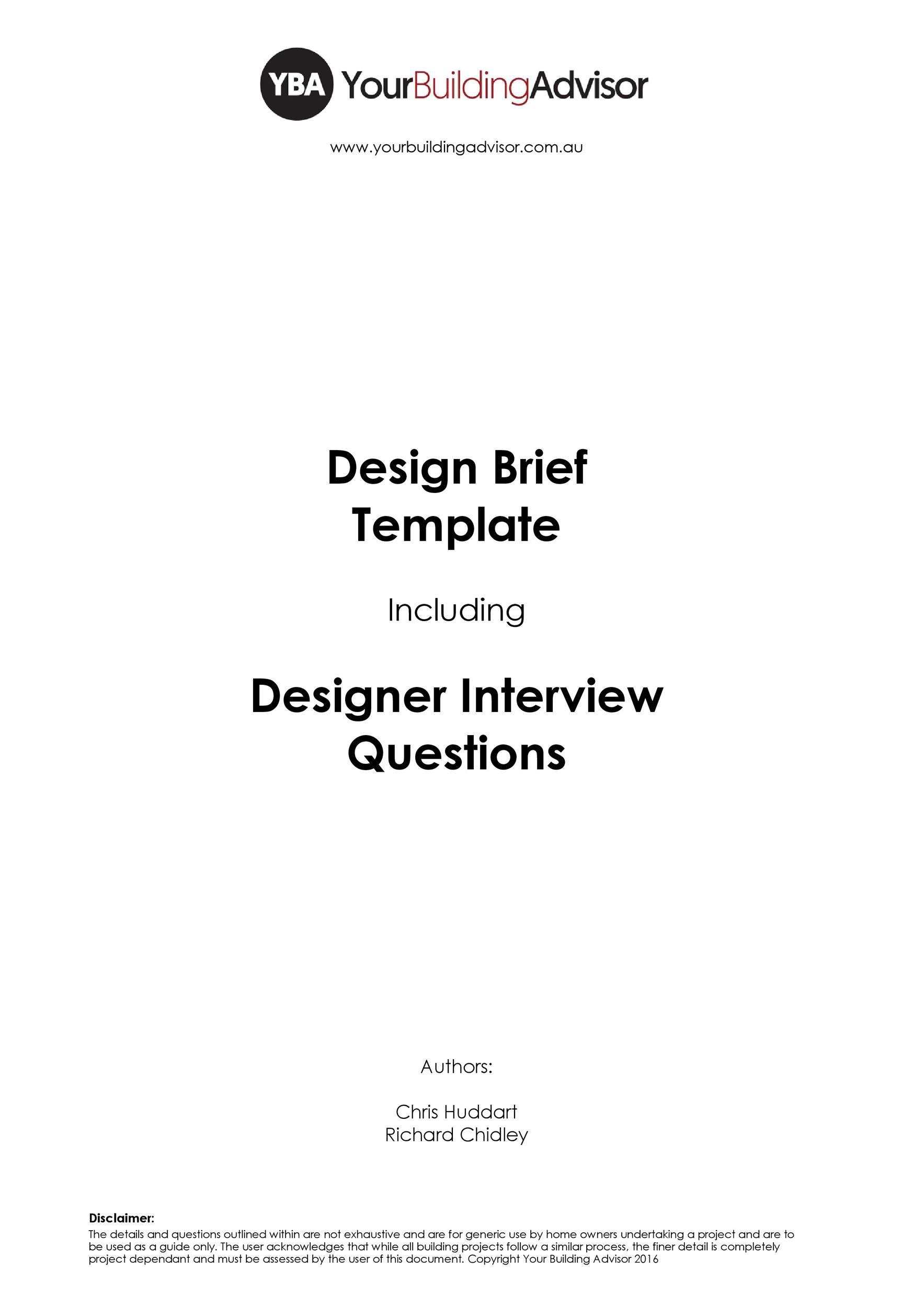 Free design brief template 03