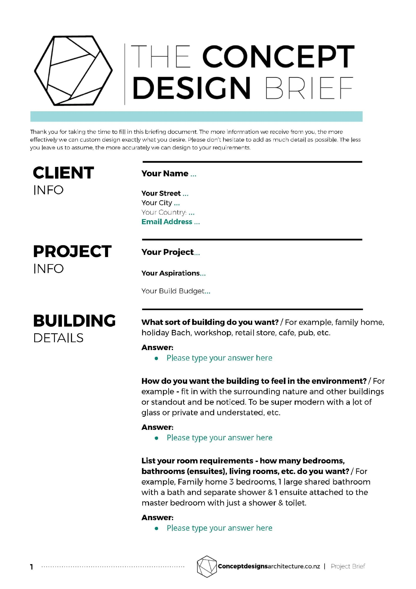 Free design brief template 04