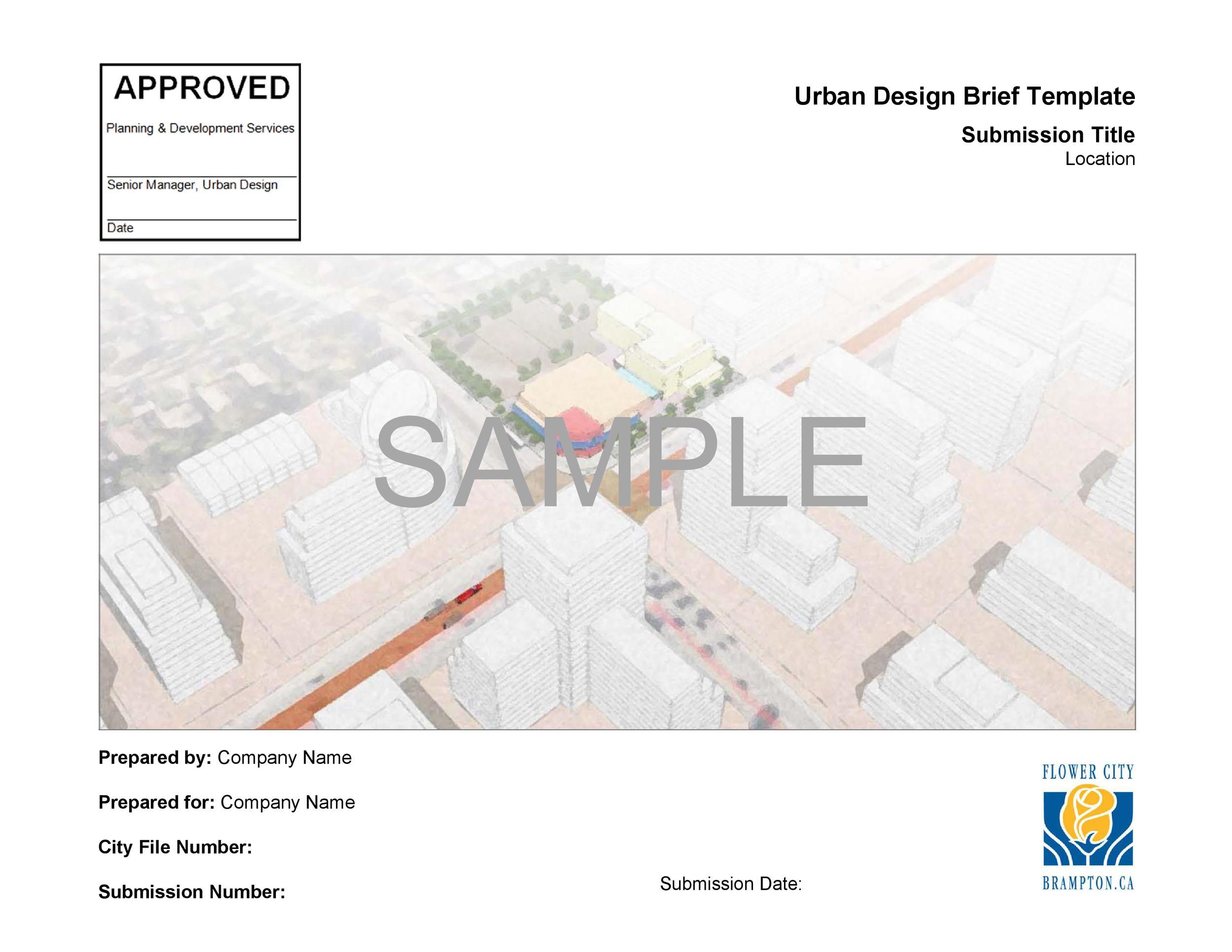 Free design brief template 05
