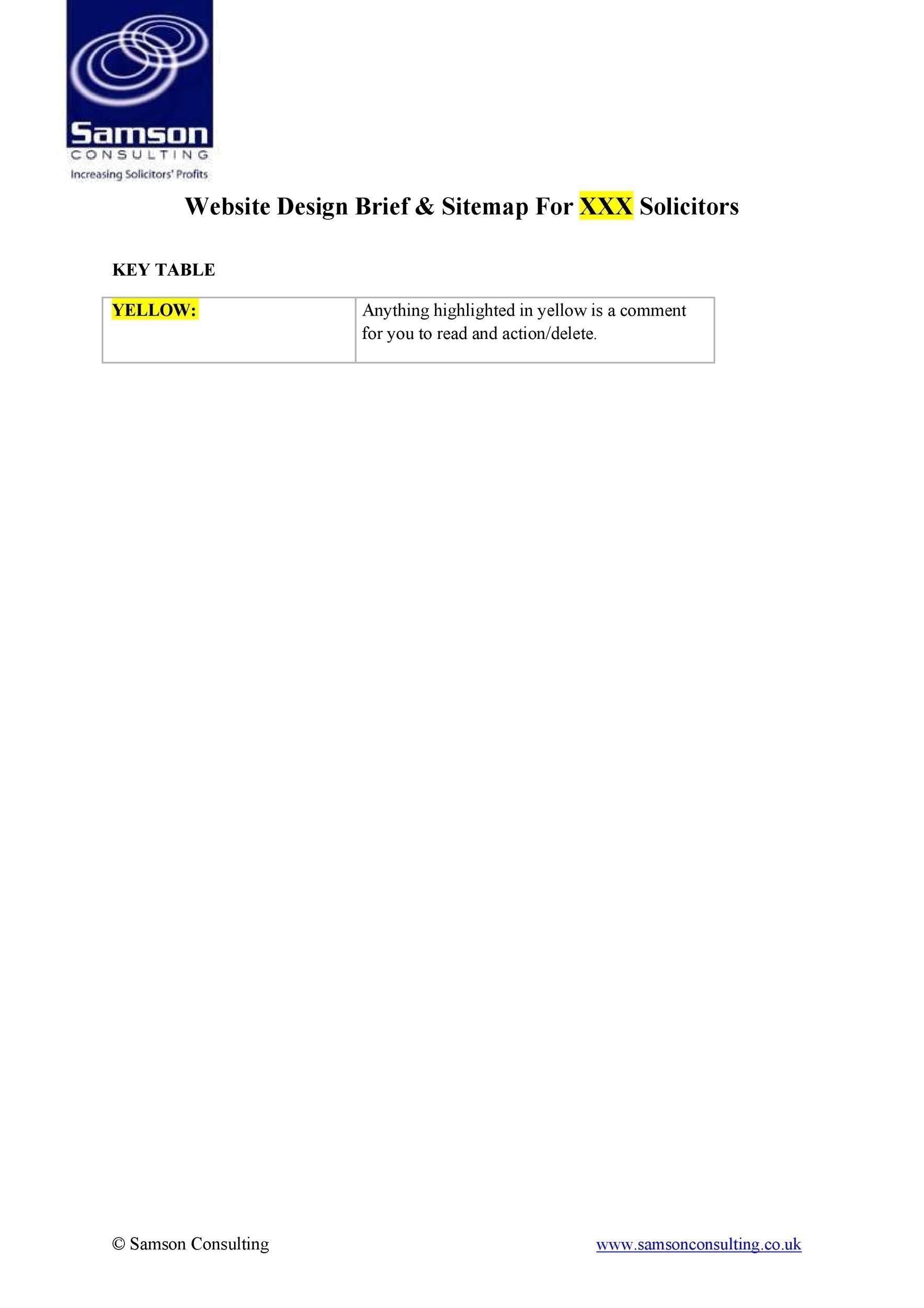 Free design brief template 07