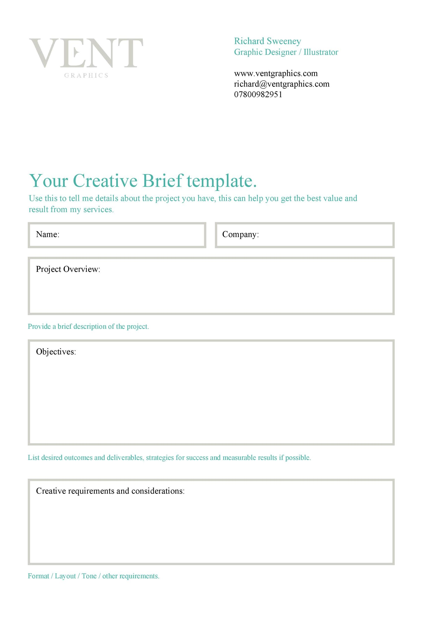 Free design brief template 09