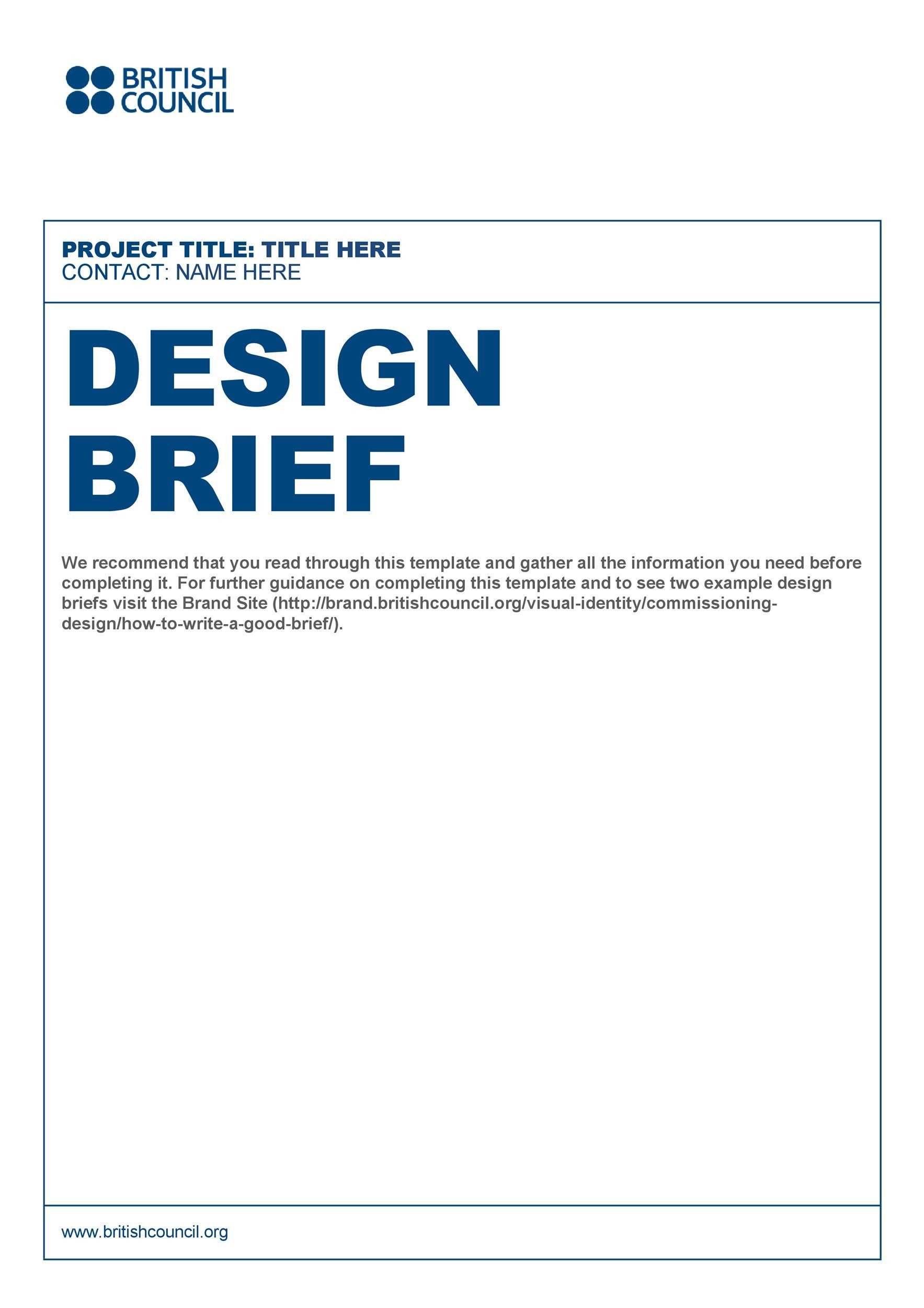 Free design brief template 24