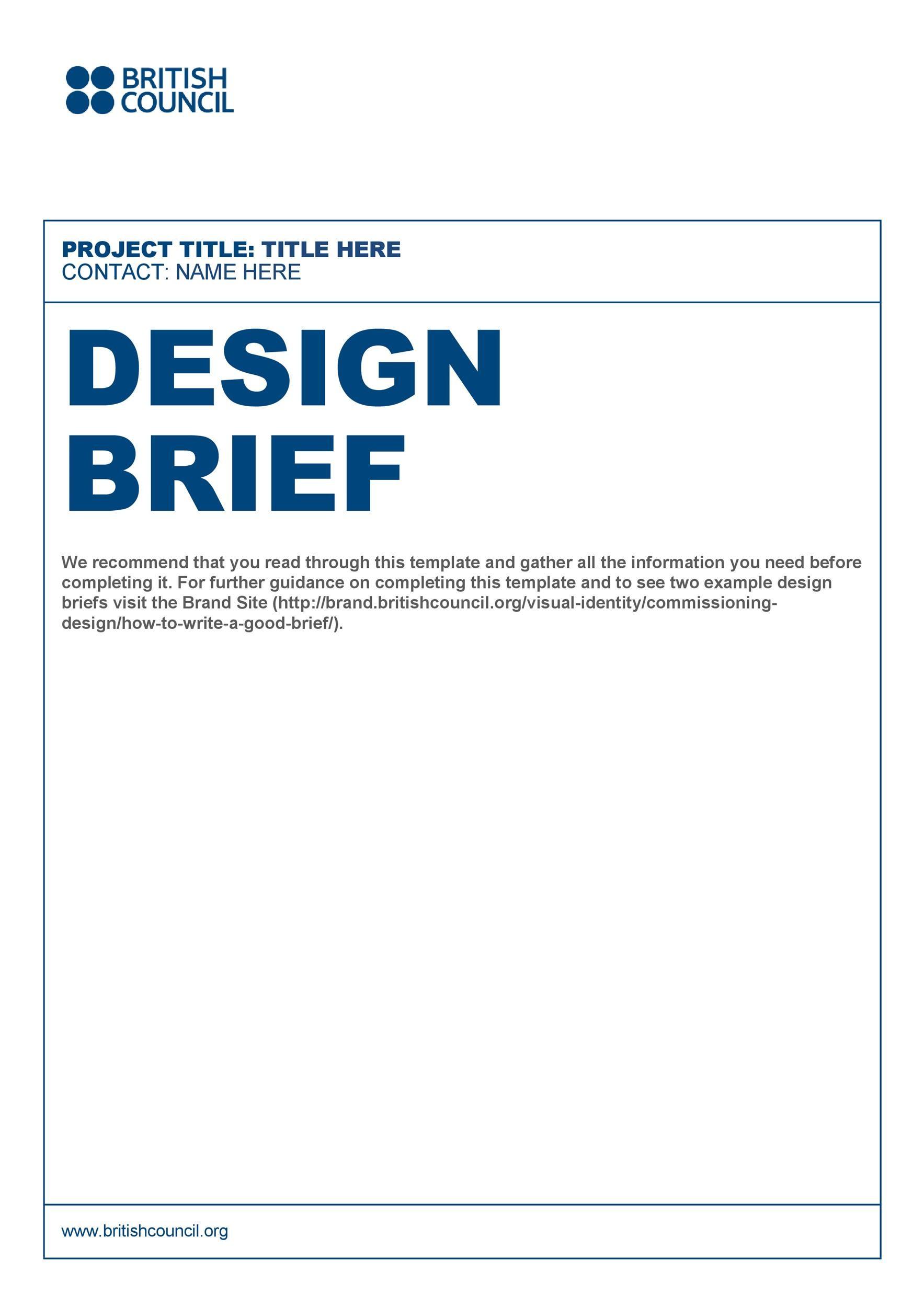 Free design brief template 24