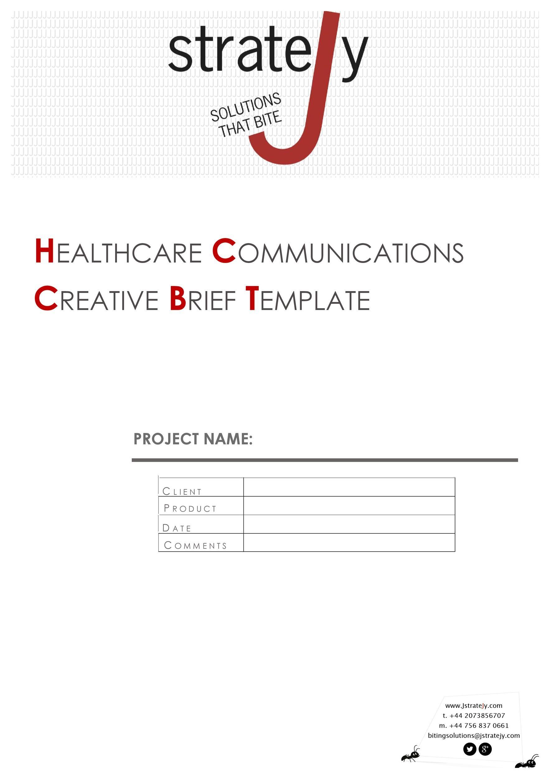Free design brief template 29