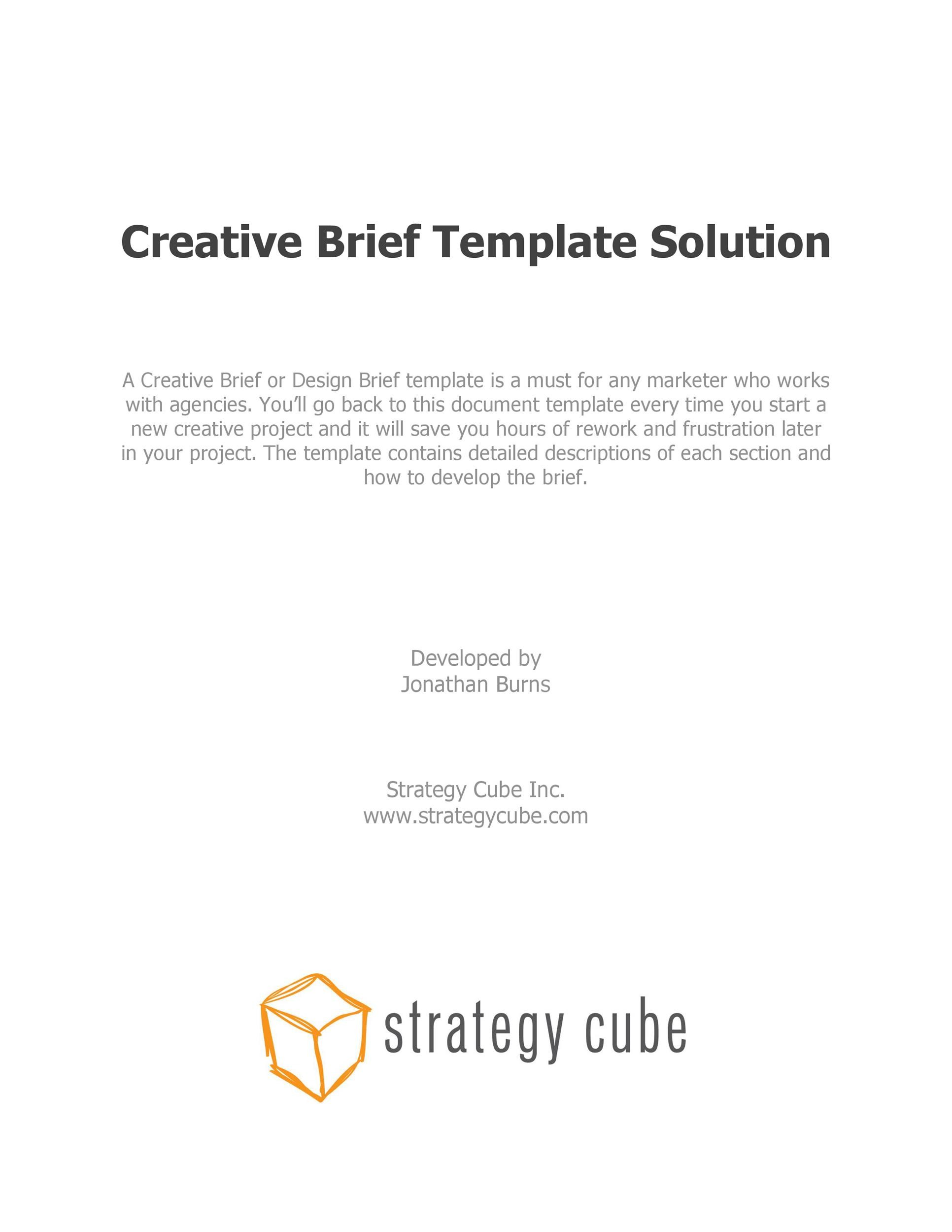 Free design brief template 31