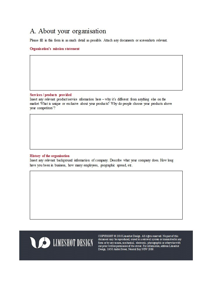 Free design brief template 33