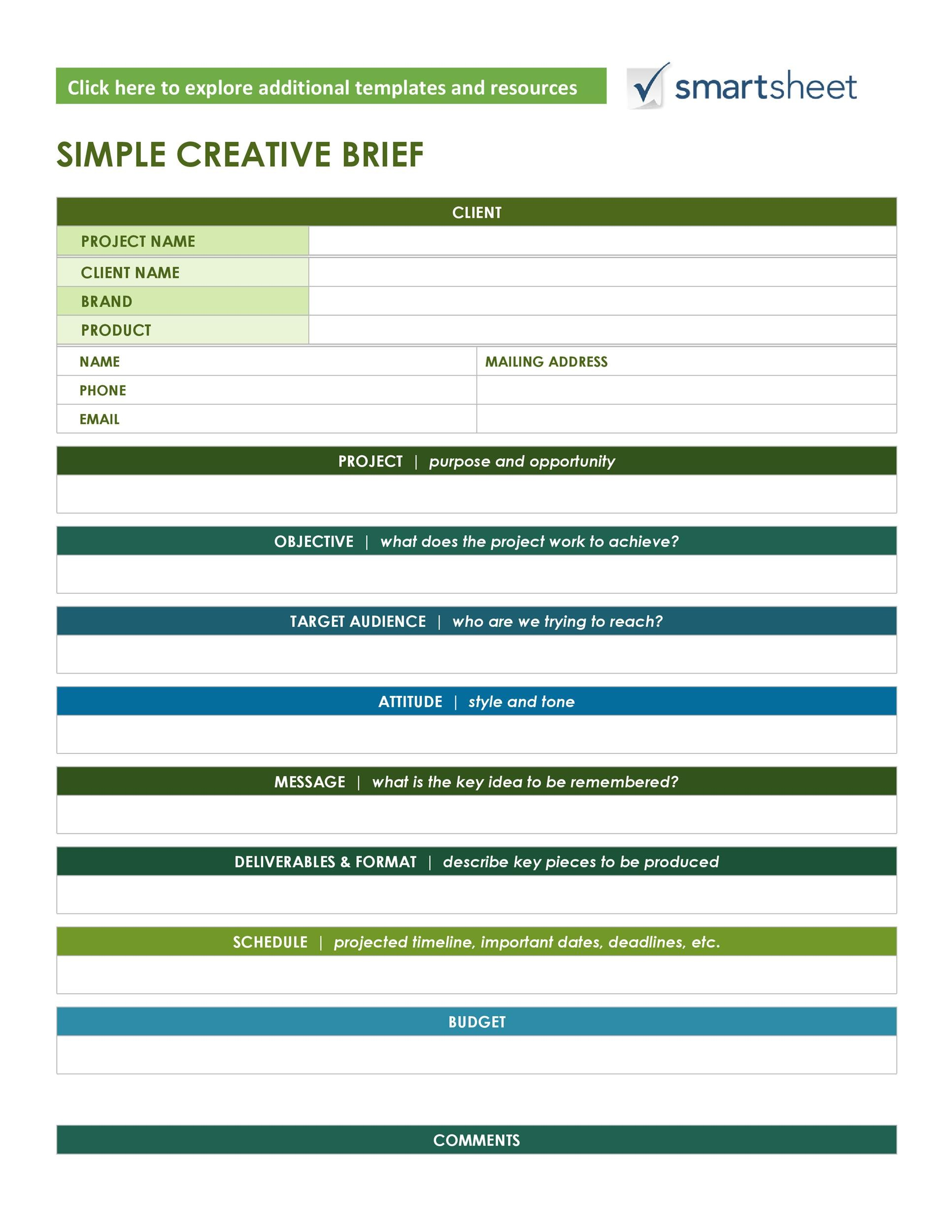 Free design brief template 42