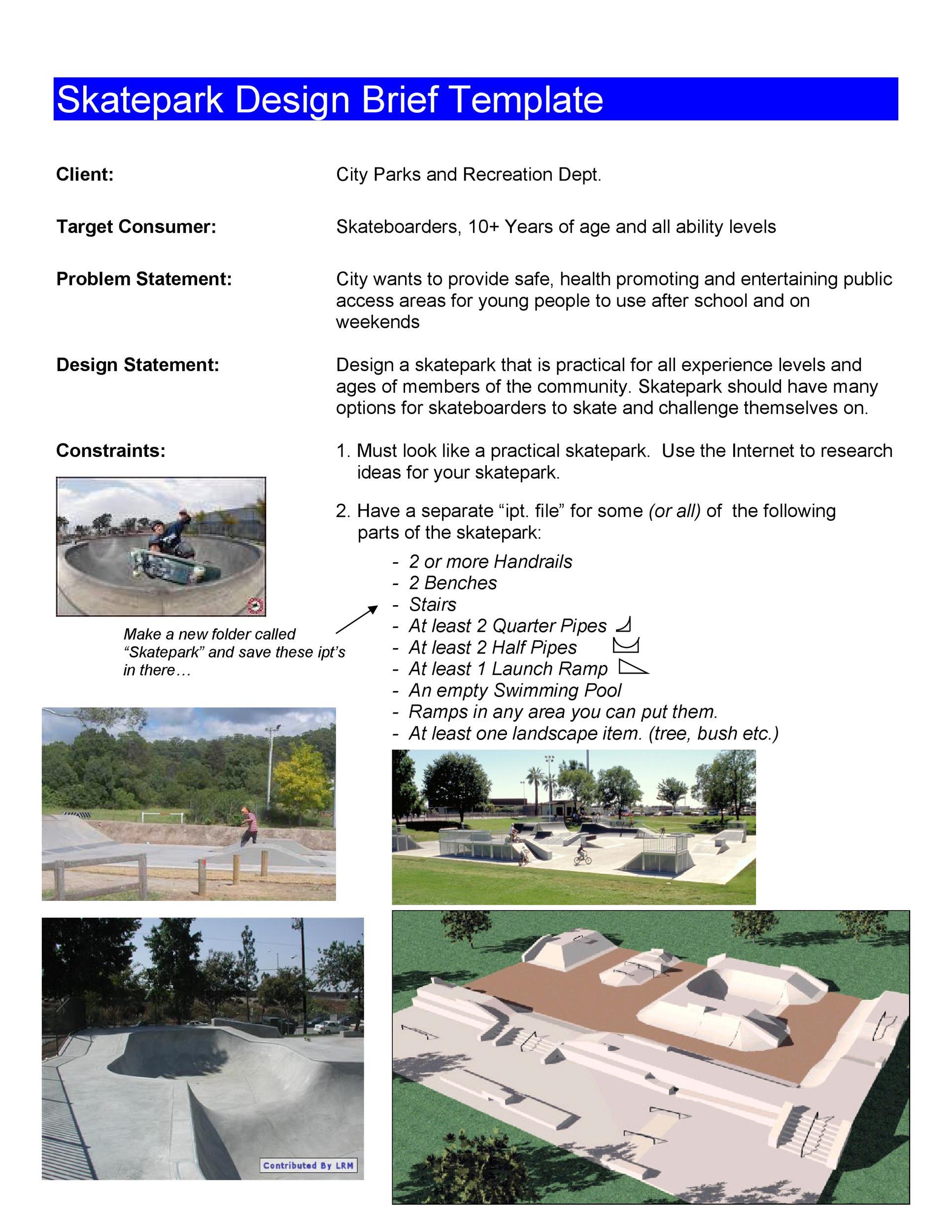 Free design brief template 43