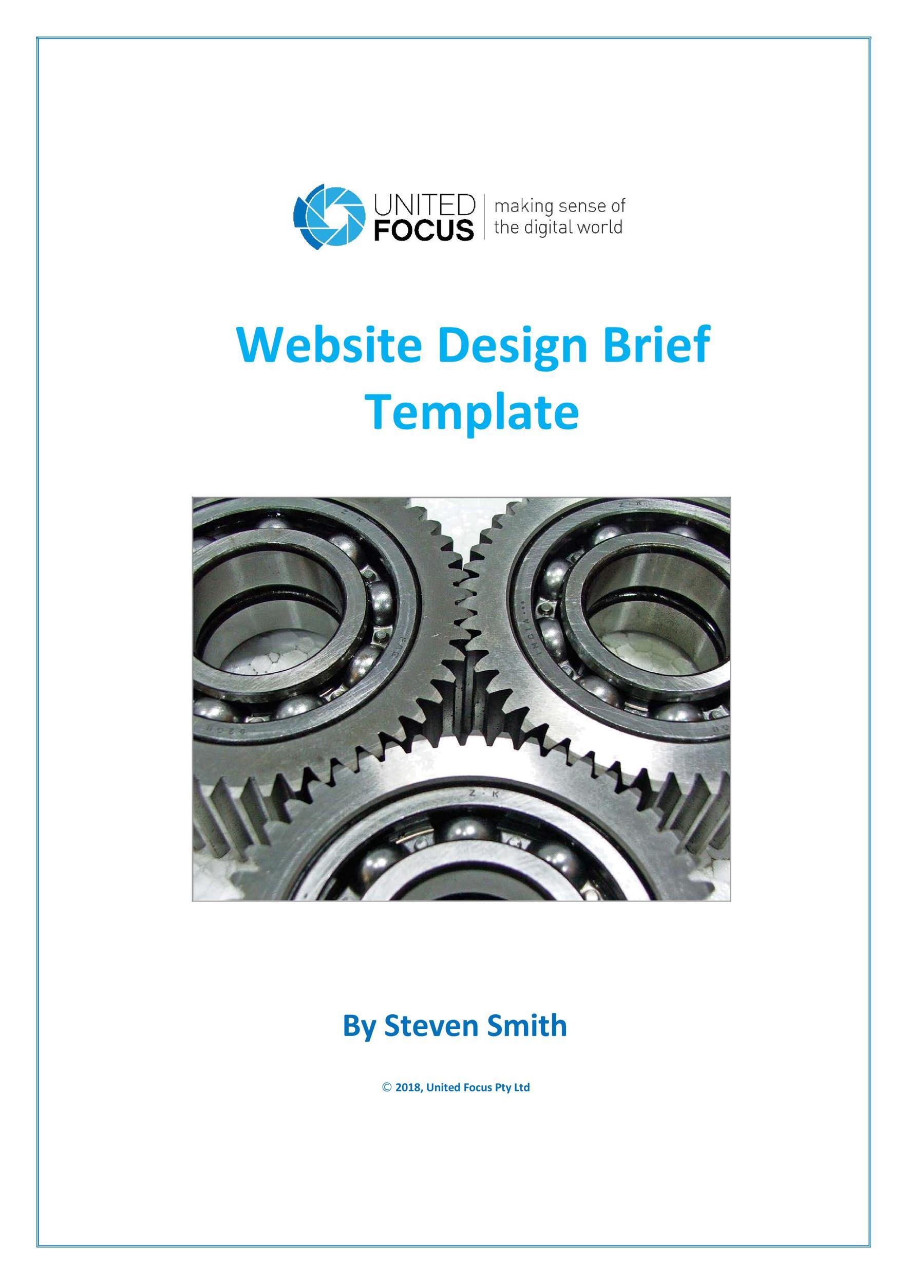 Free design brief template 50