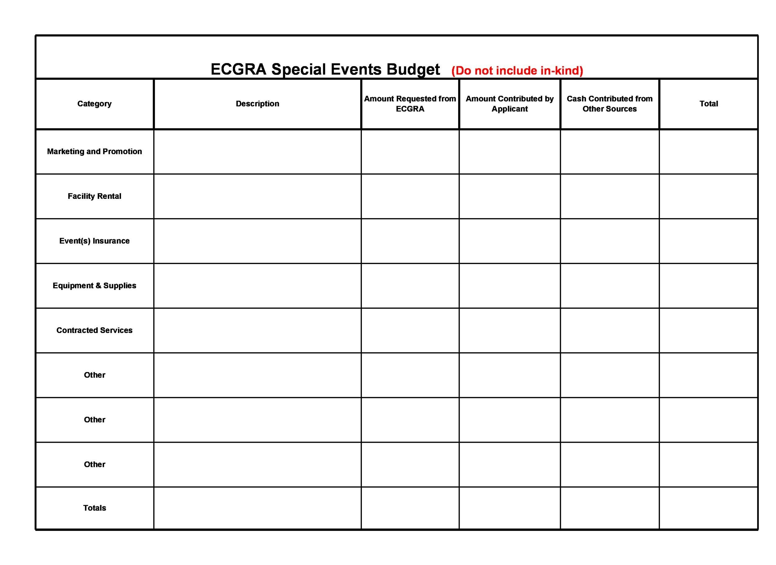 Free event budget template 47