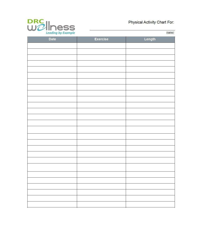 46 printable exercise charts  100  free   u1405 templatelab
