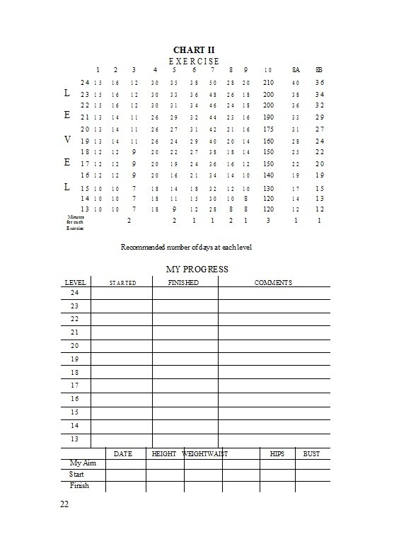 Free exercise chart 33