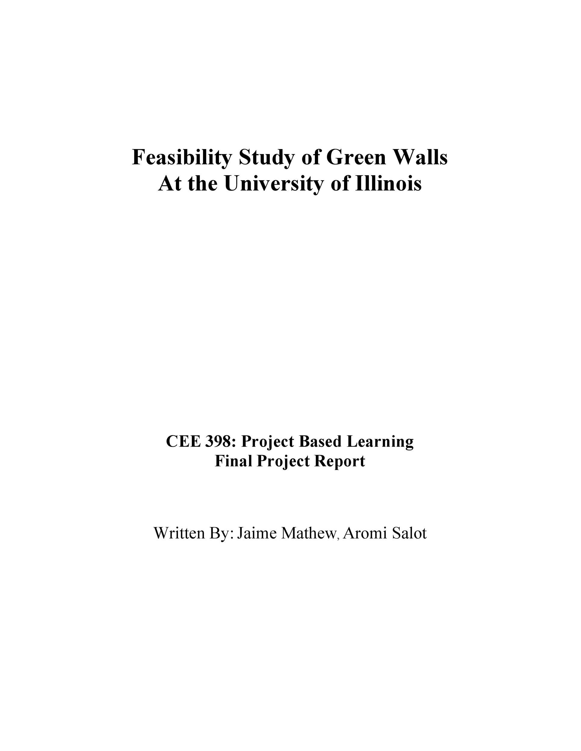 Free feasibility study example 13