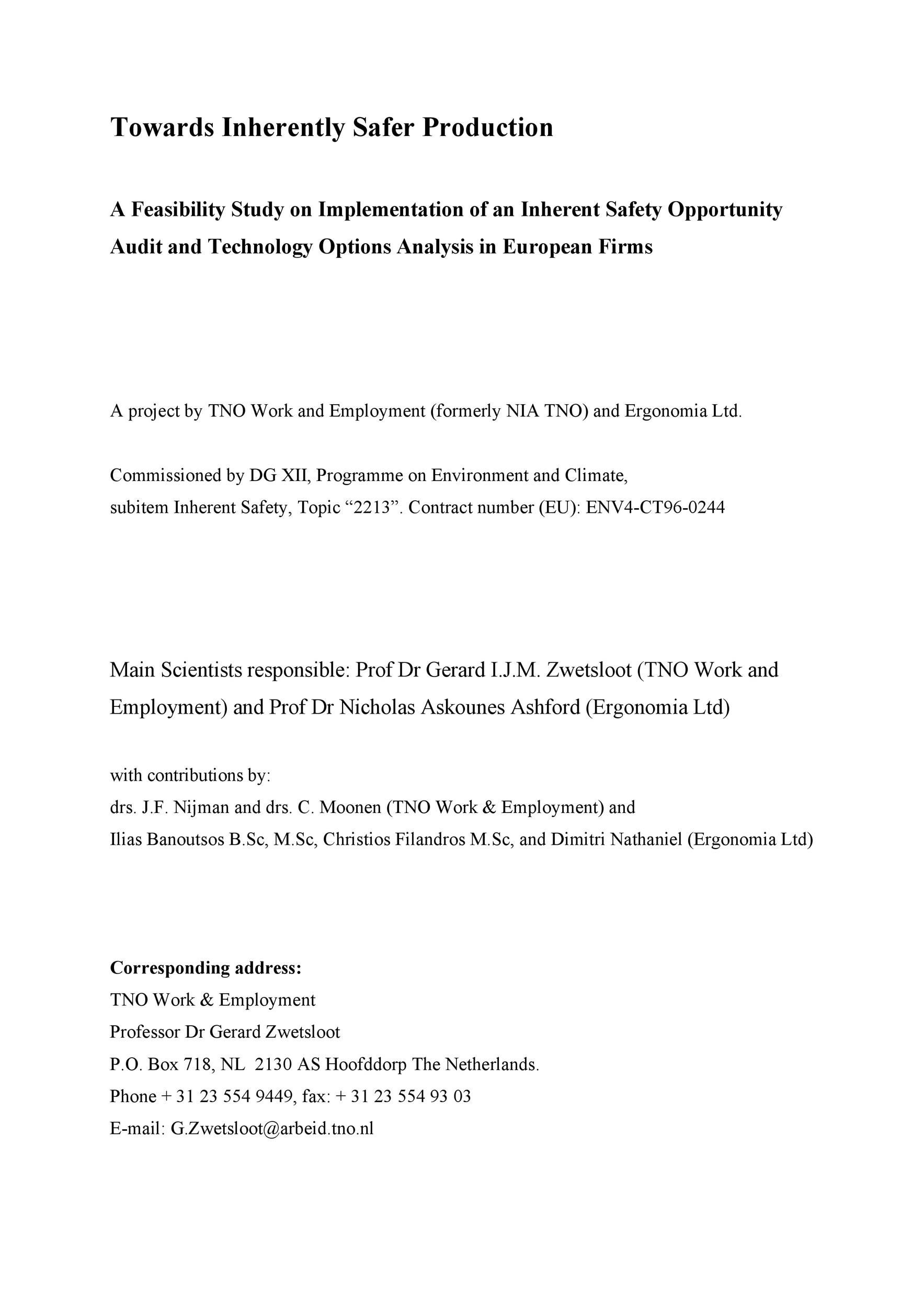 Free feasibility study example 20