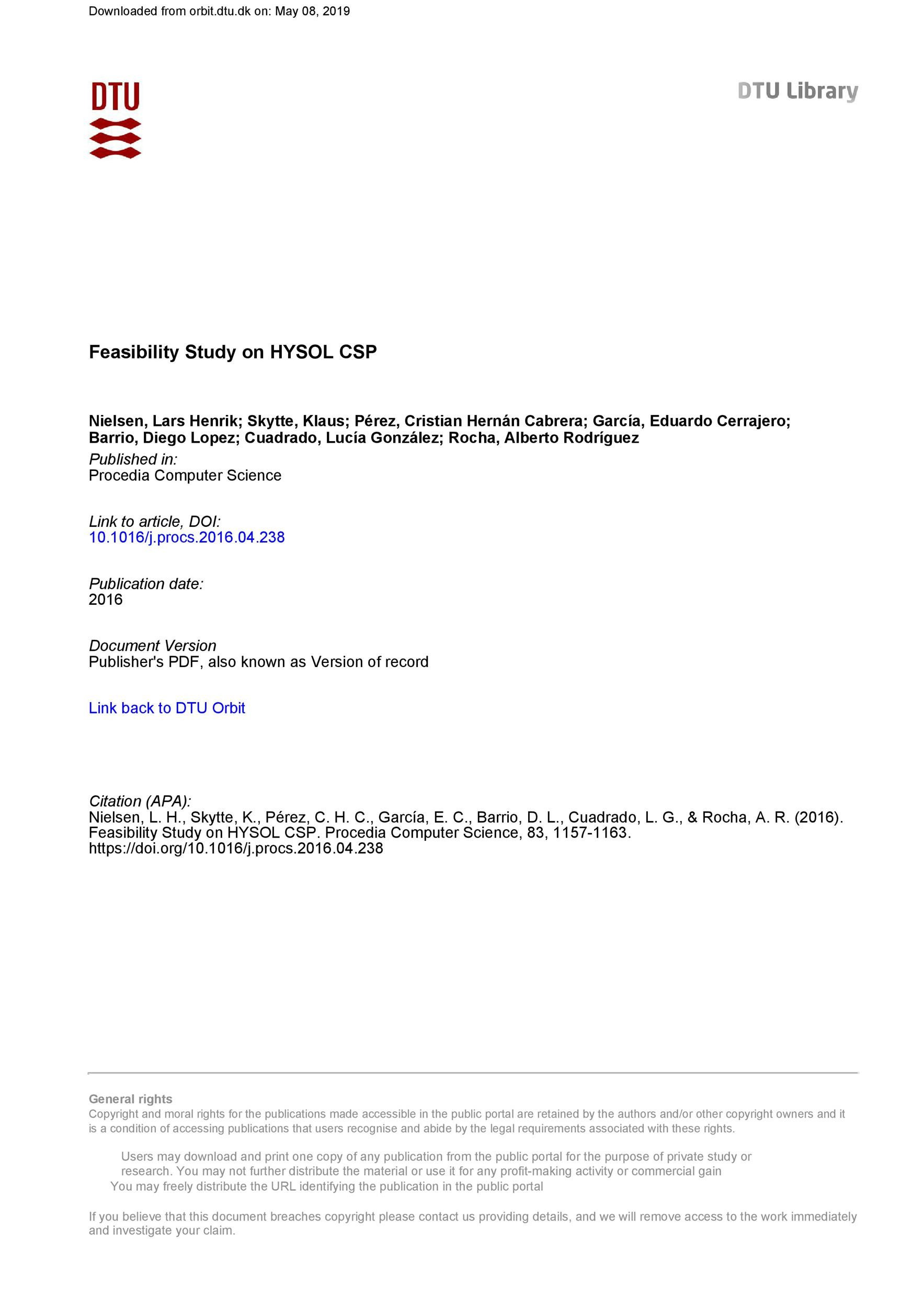 Free feasibility study example 45
