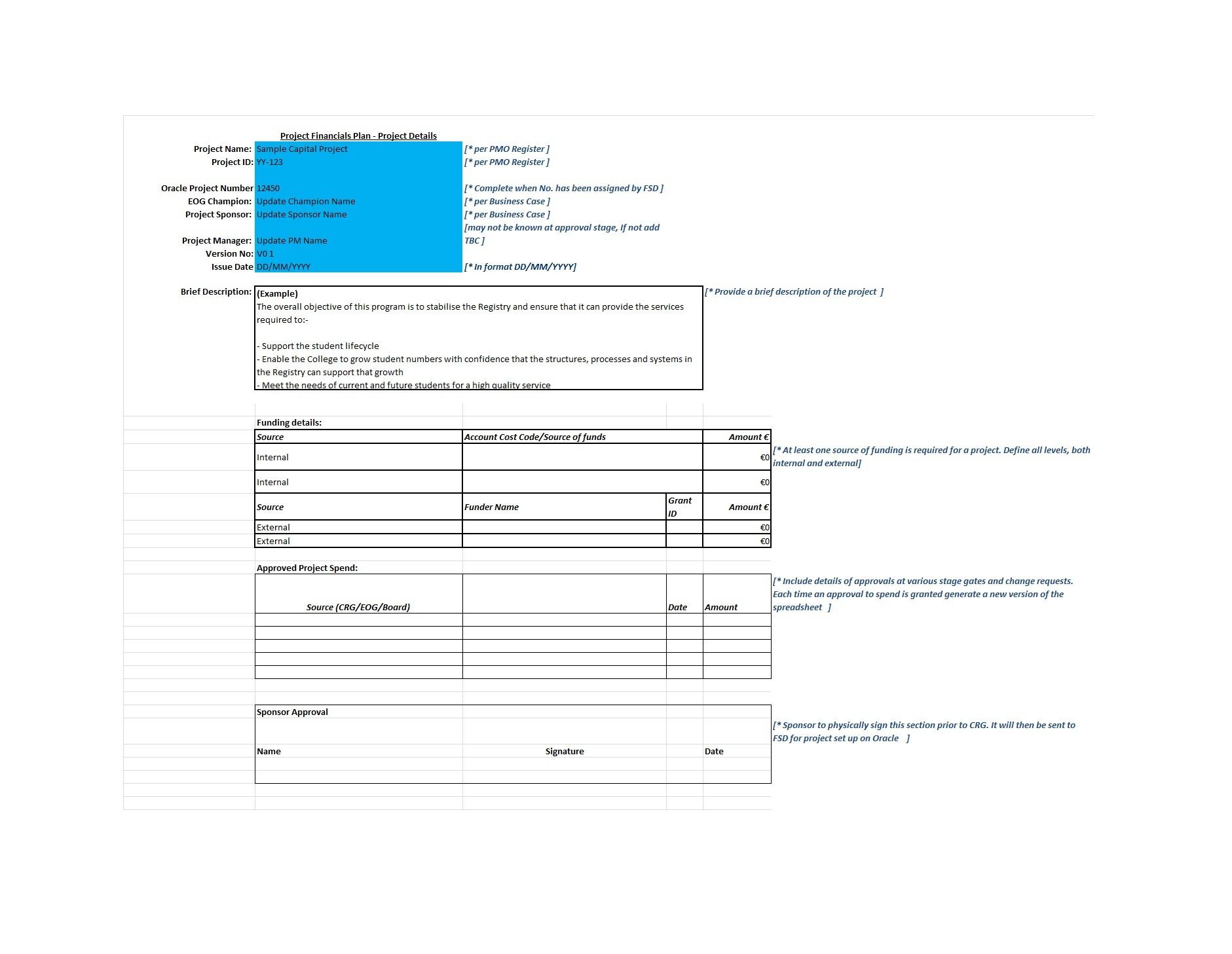 Free financial plan template 01