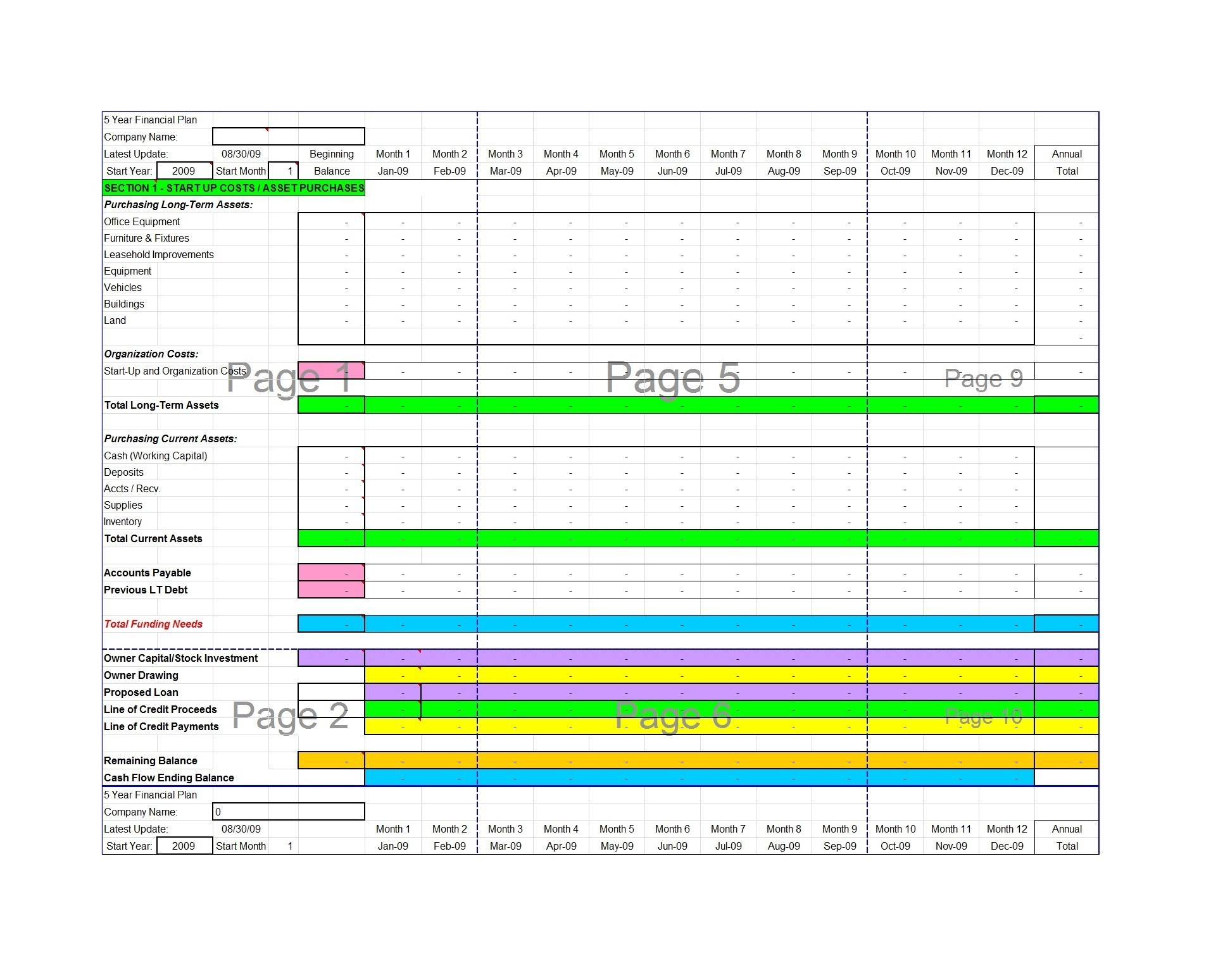 Free financial plan template 06
