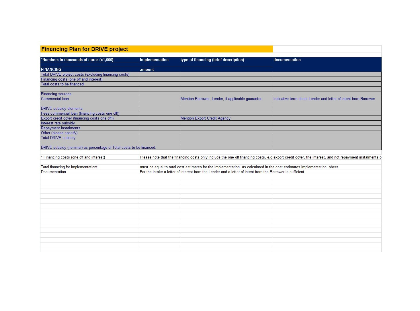 Free financial plan template 10