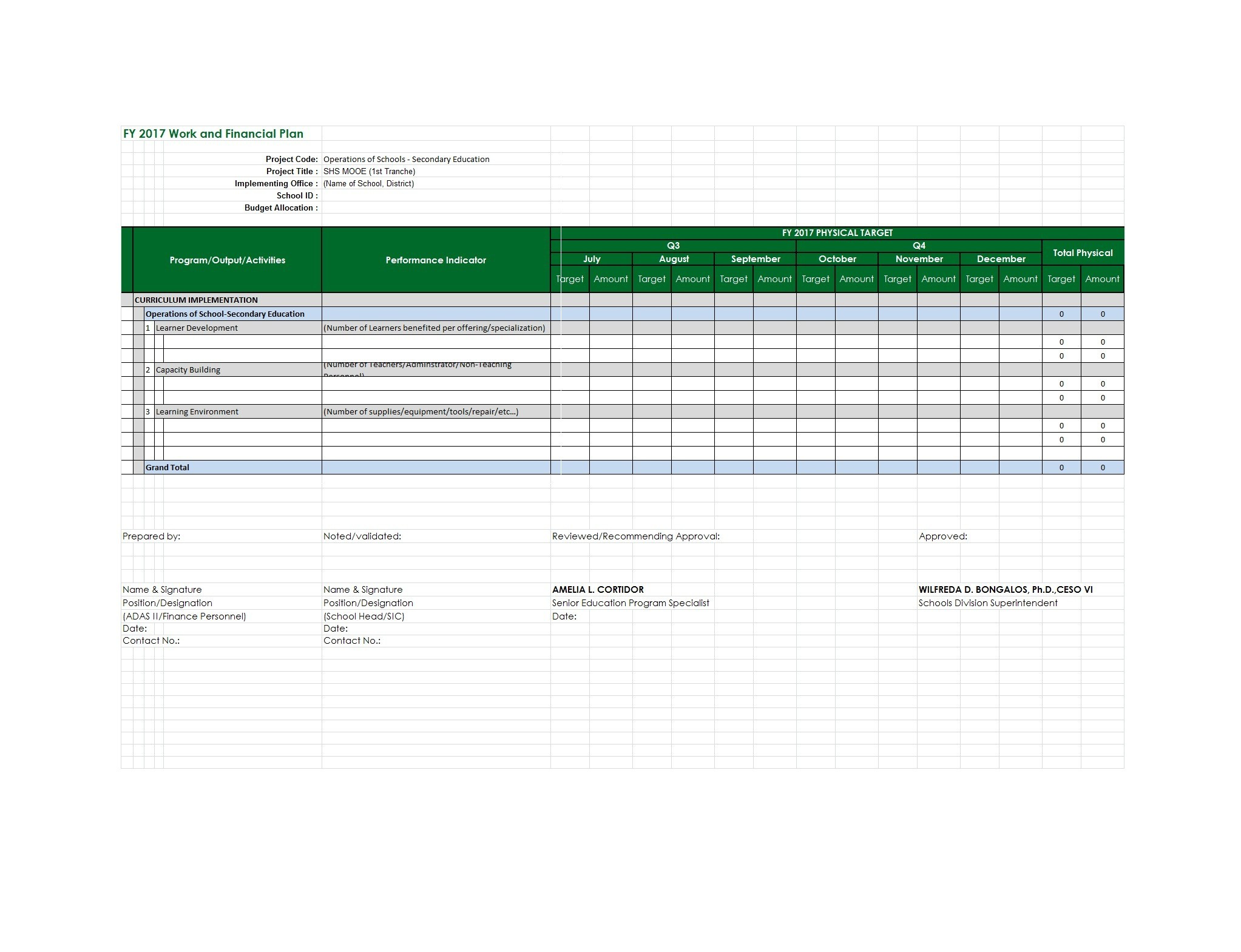 Free financial plan template 11