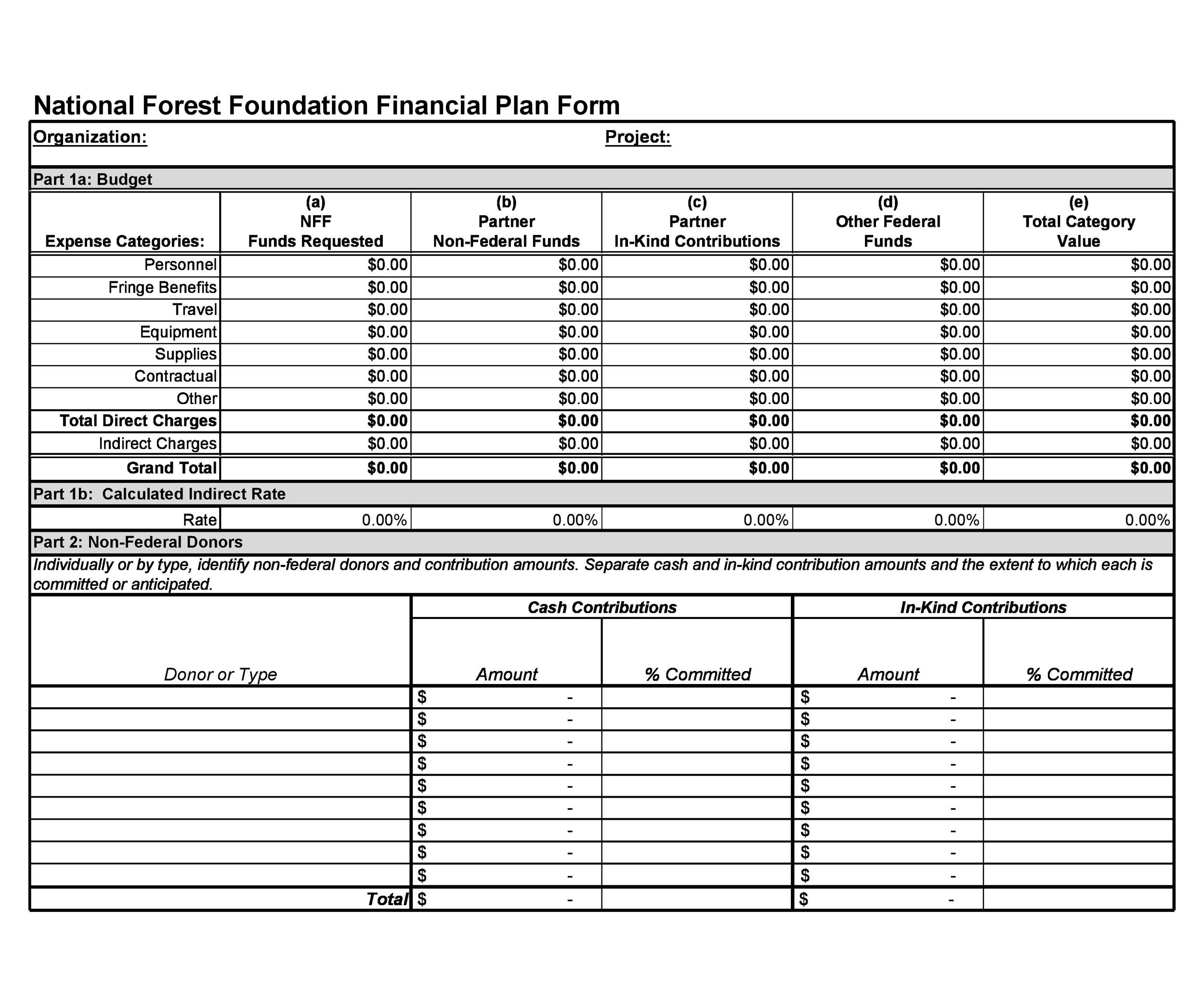 Free financial plan template 20