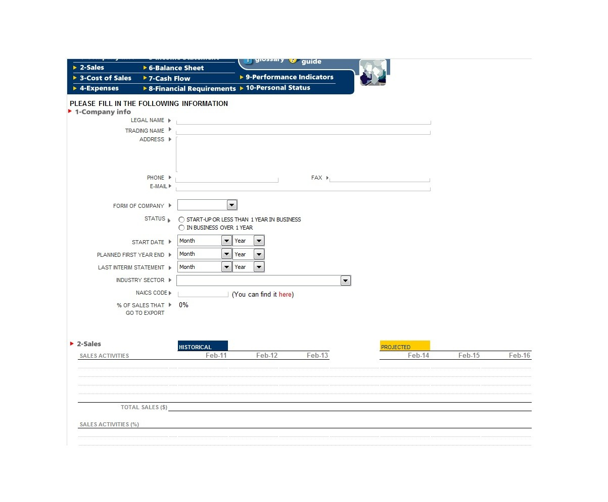 Free financial plan template 25