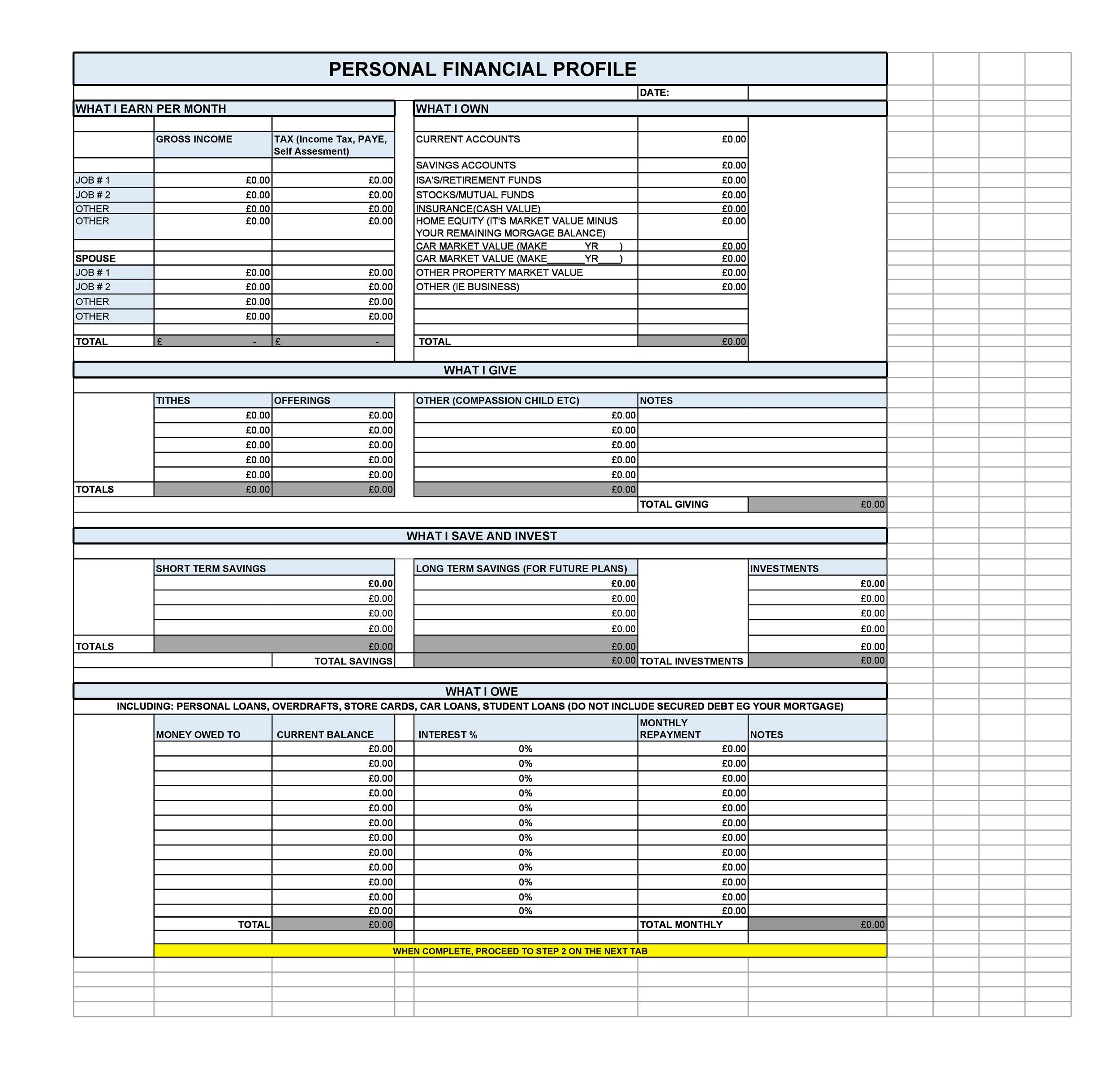 Free financial plan template 39