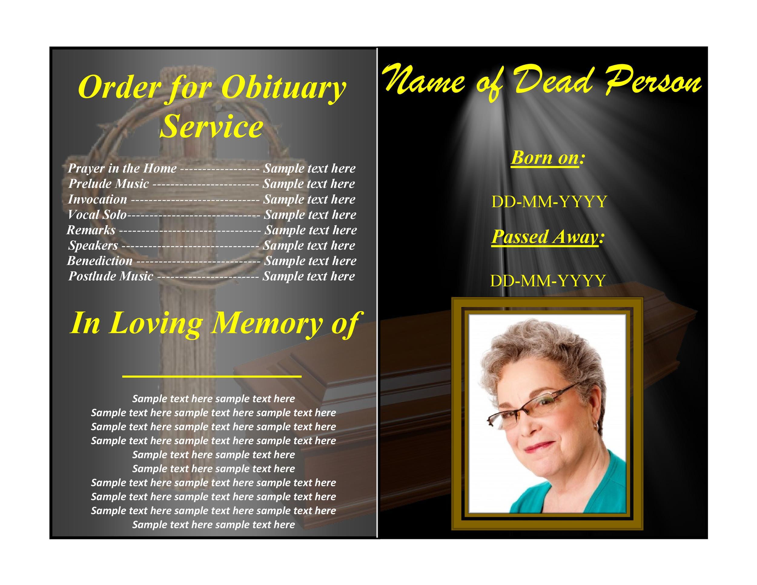 Free funeral program template 07
