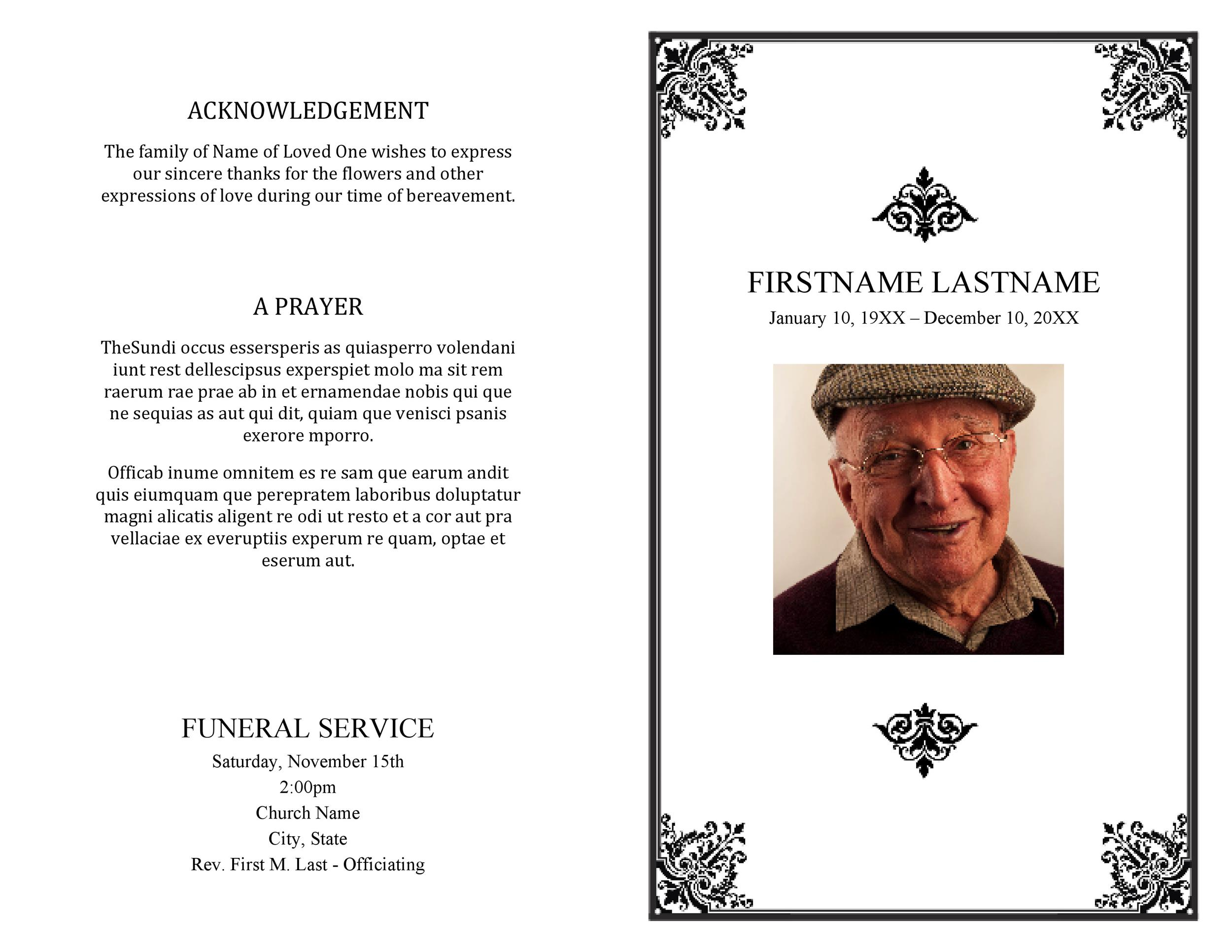 Free funeral program template 08