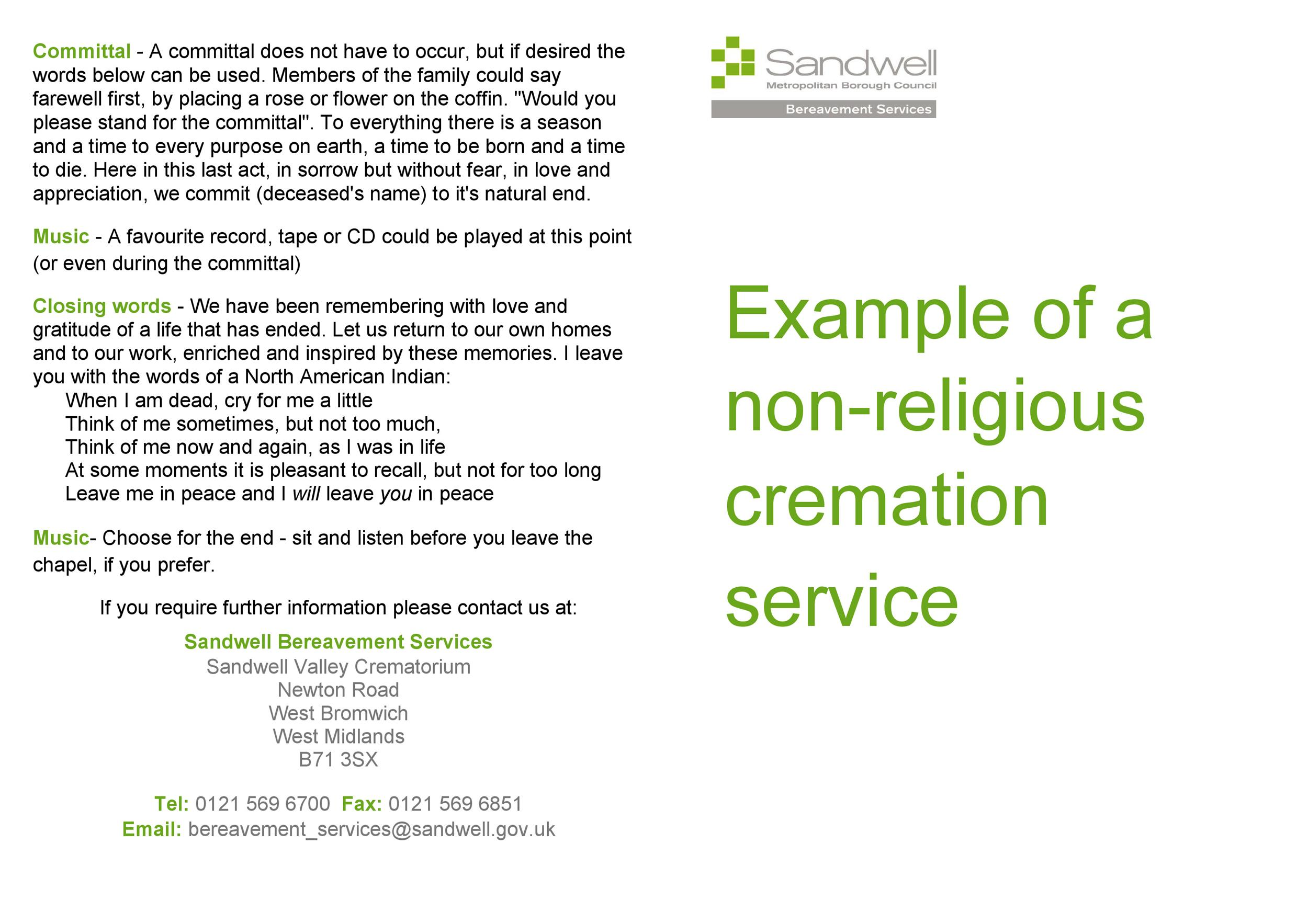 Free funeral program template 20