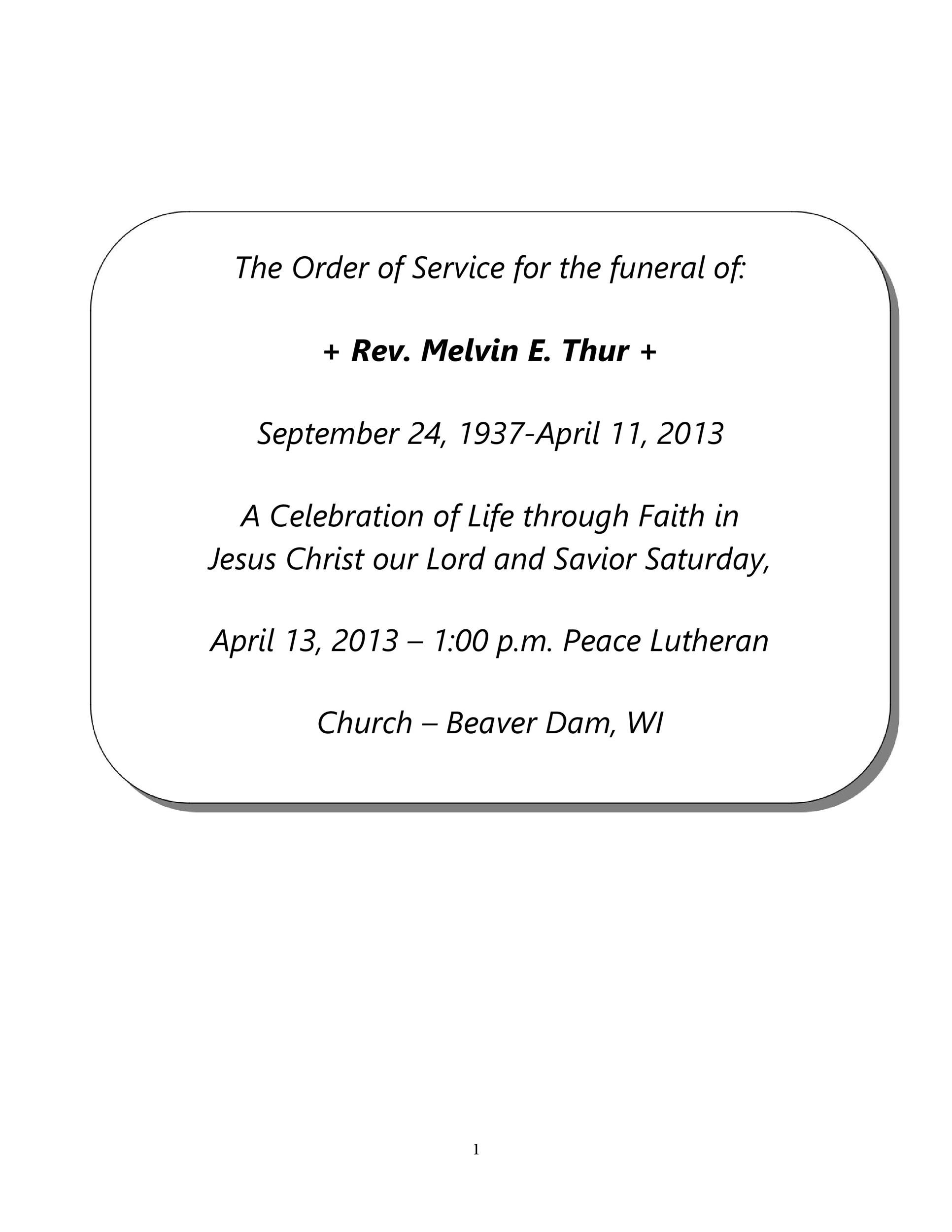Free funeral program template 27