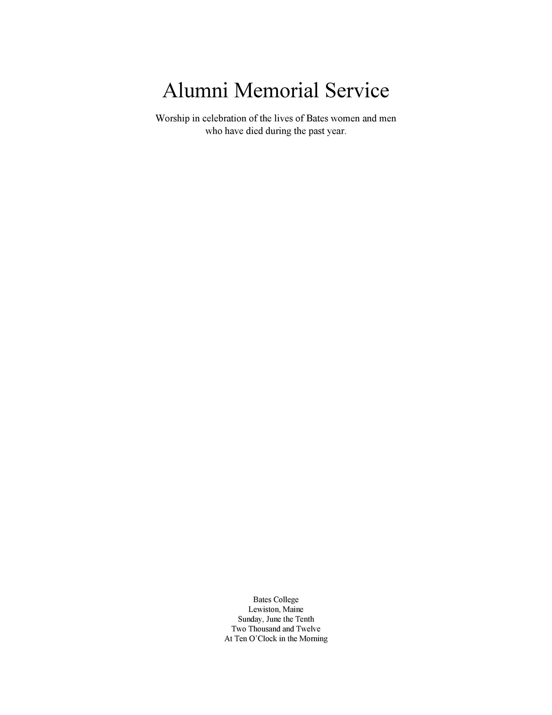 Free funeral program template 38