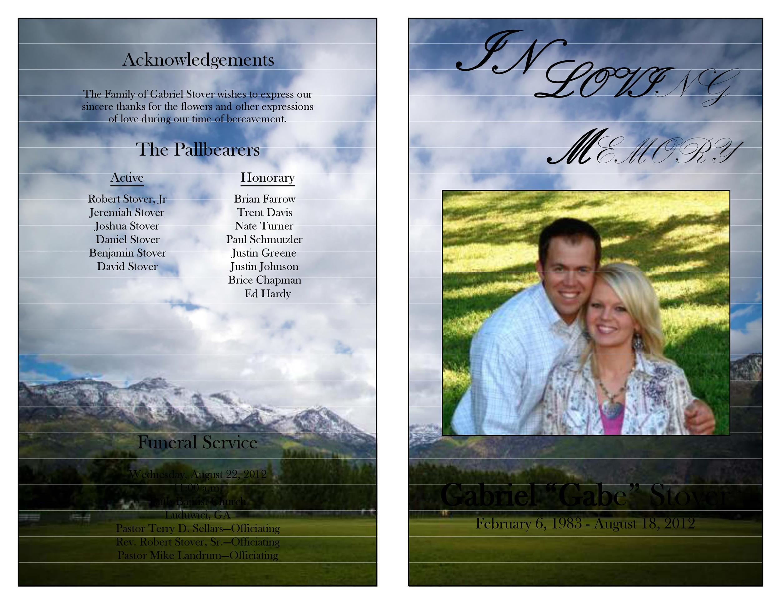 Free funeral program template 40