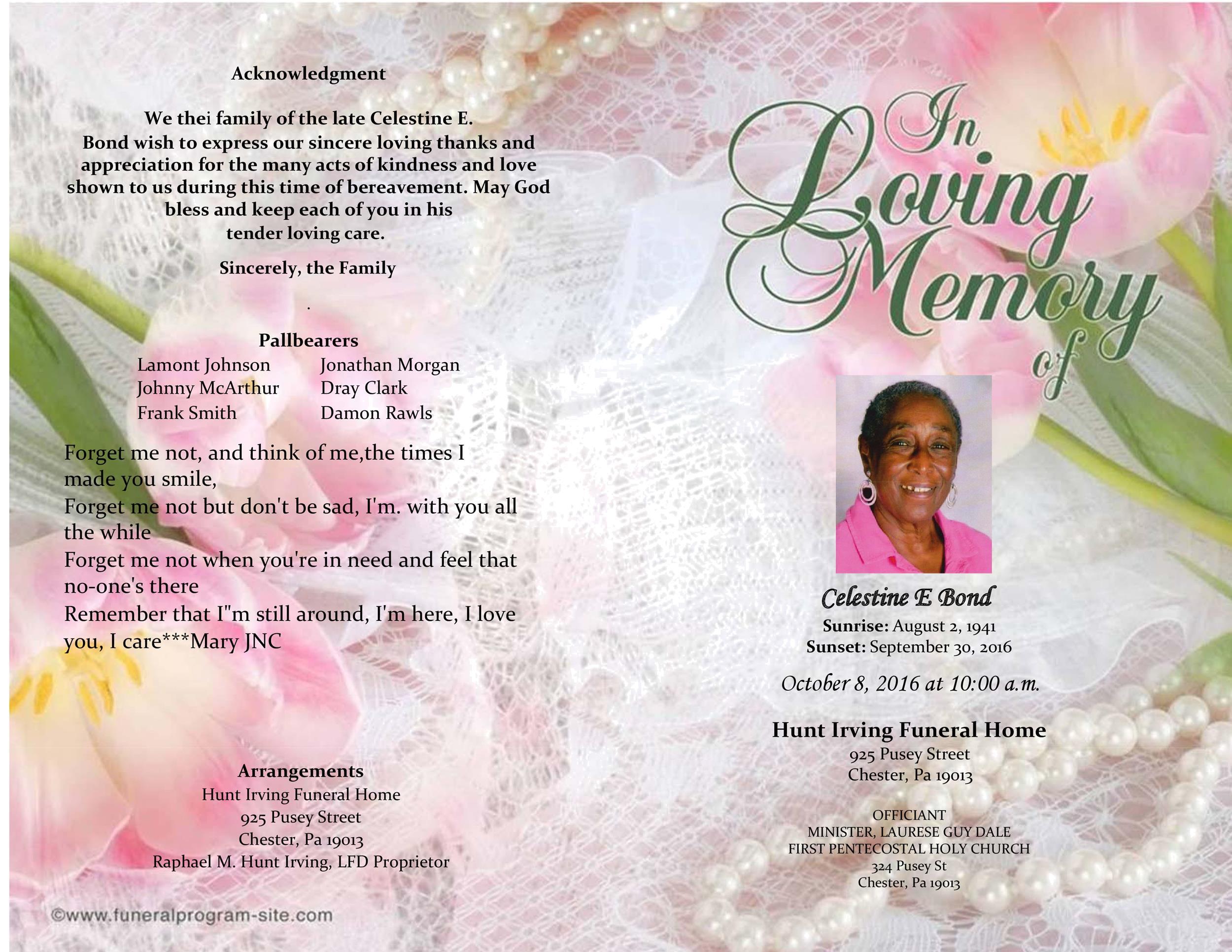 Free funeral program template 45