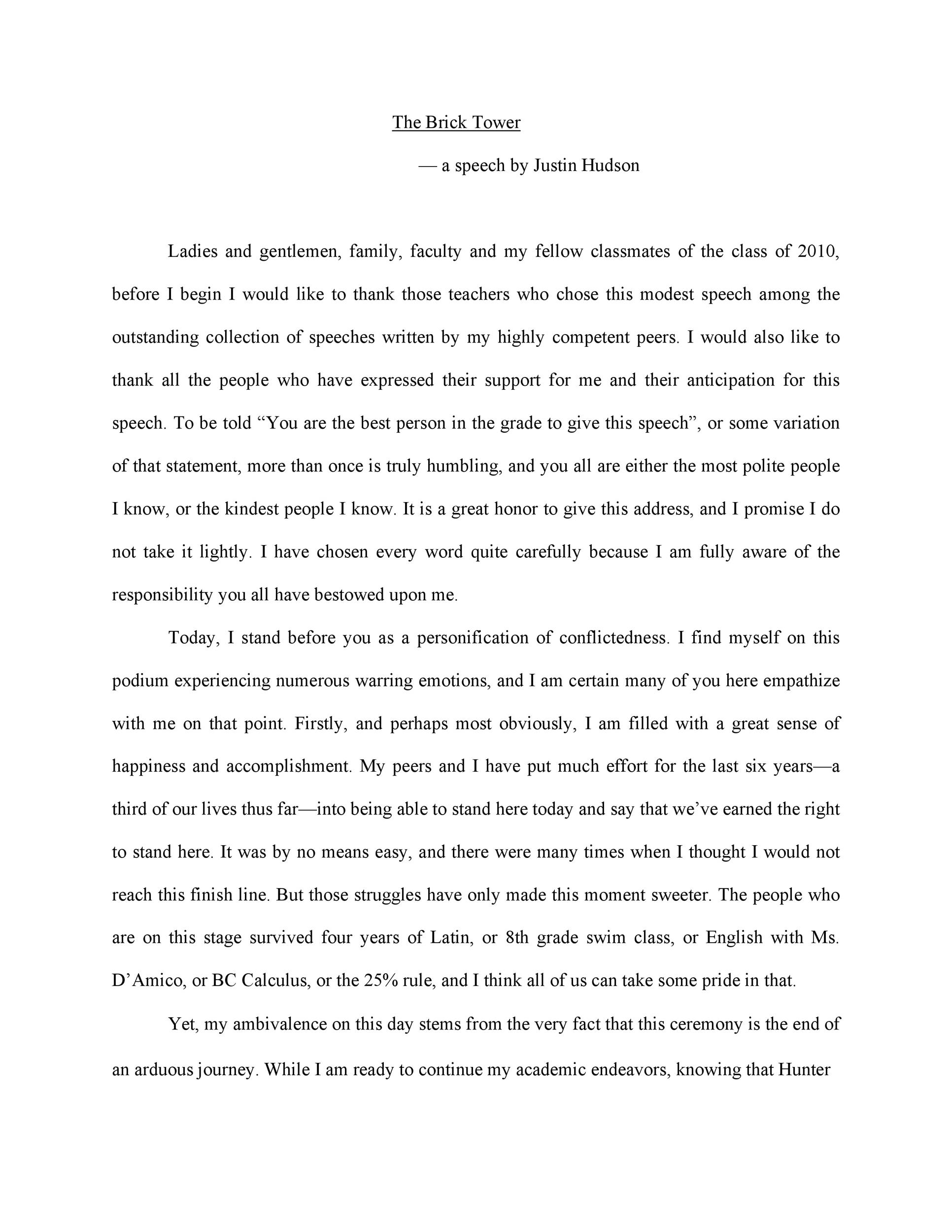Free graduation speech example 02