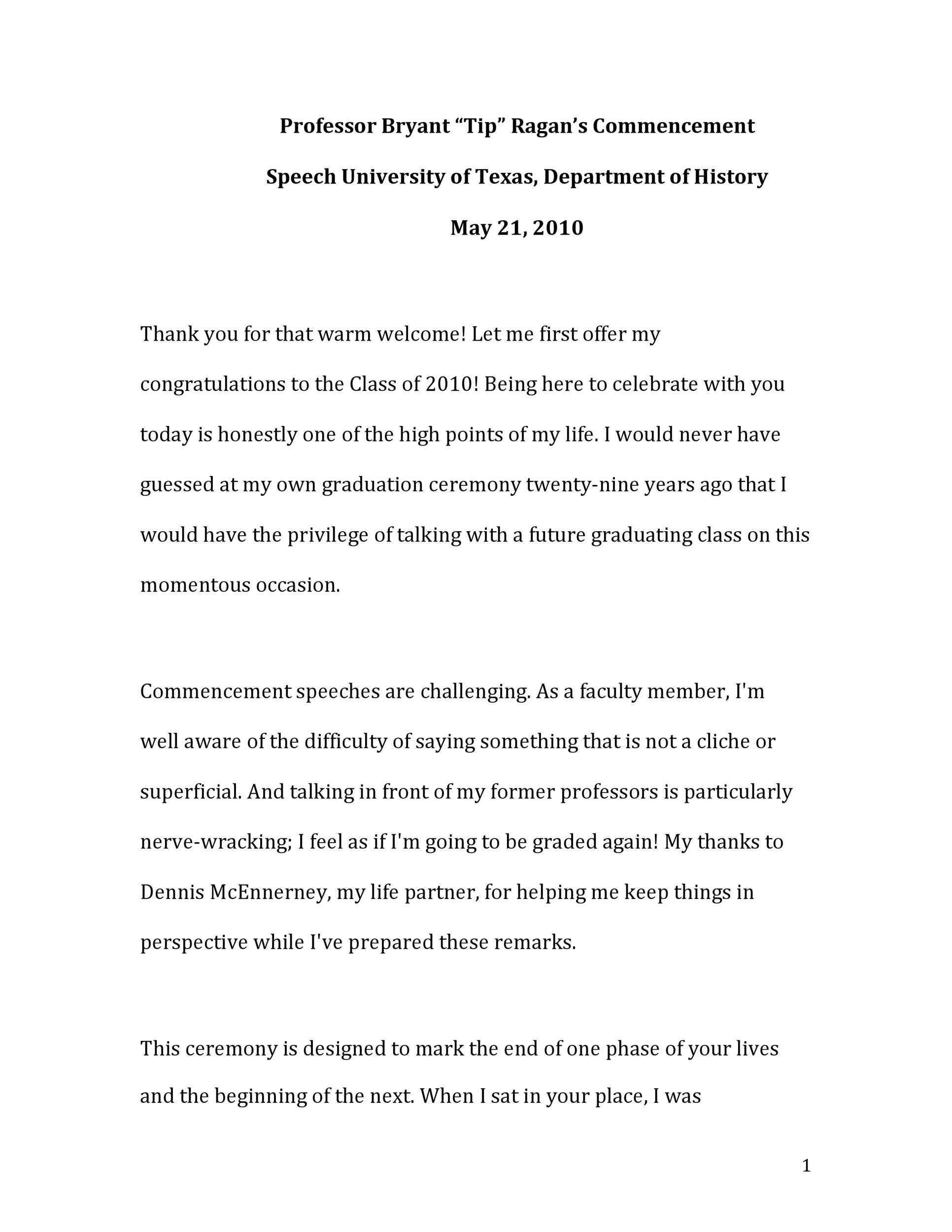 Free graduation speech example 07