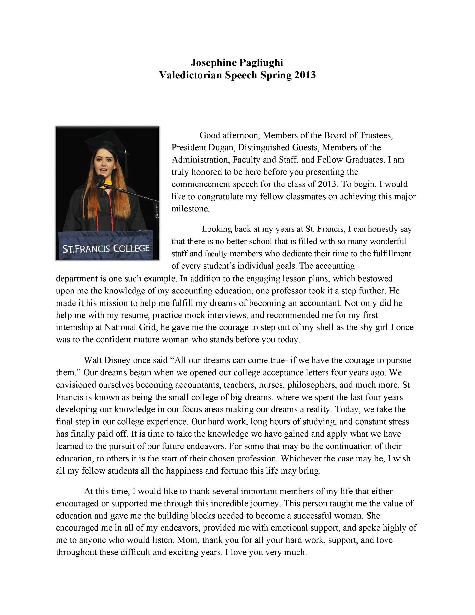 Free graduation speech example 19