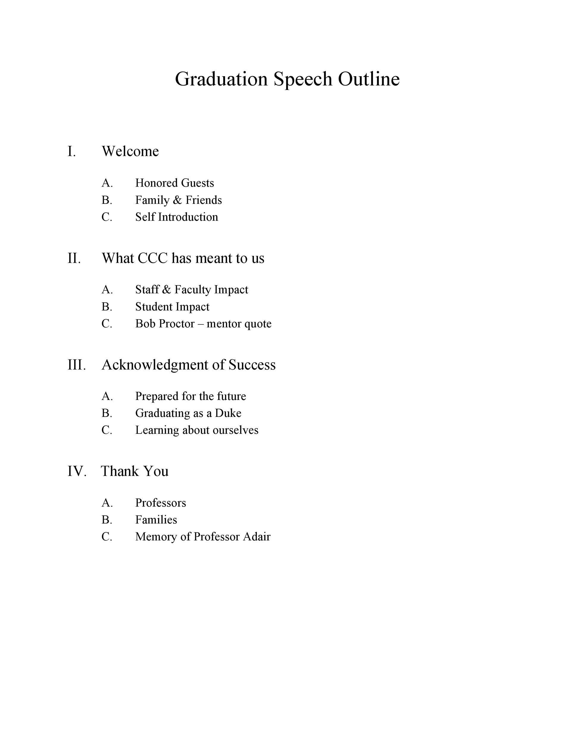 Free graduation speech example 30