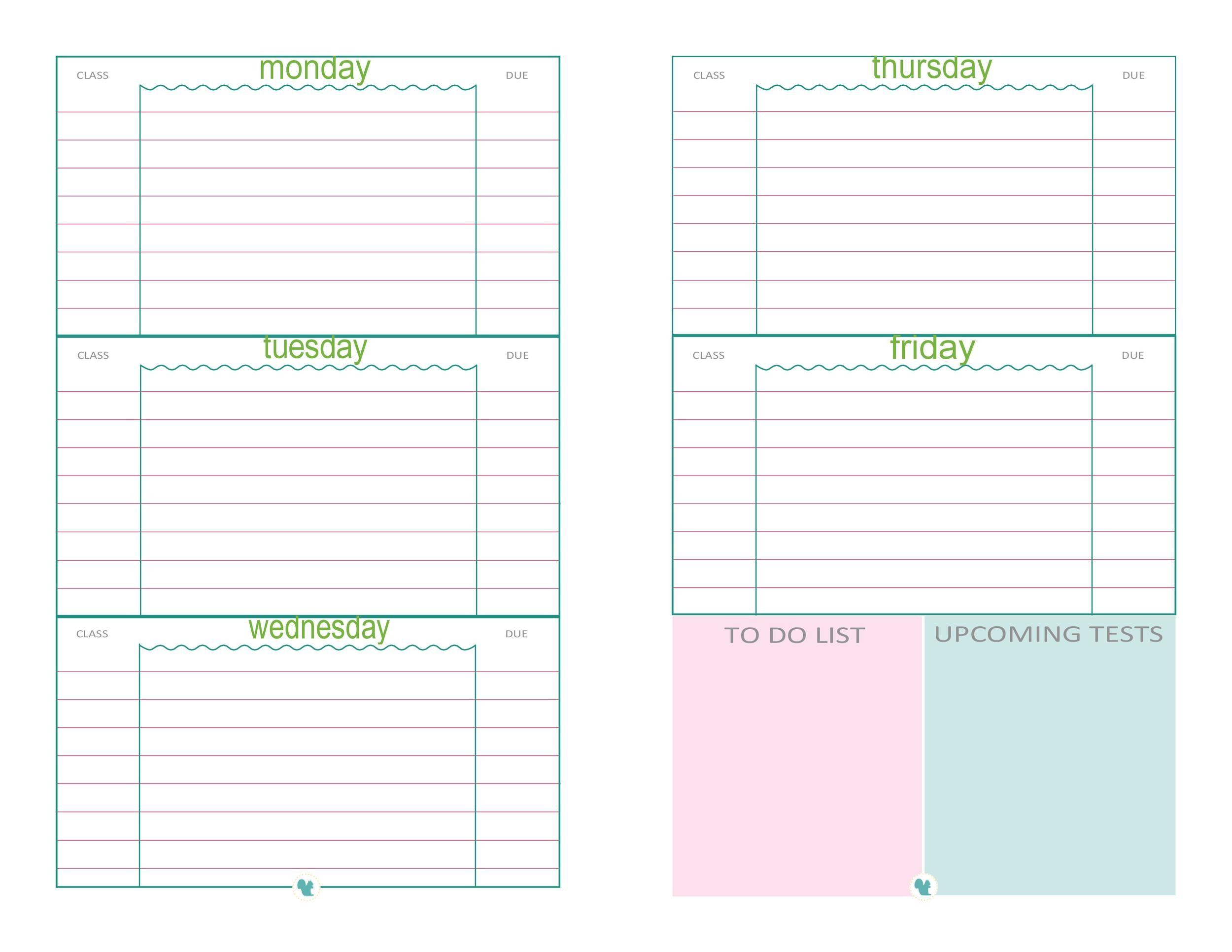 Free homework planner 06