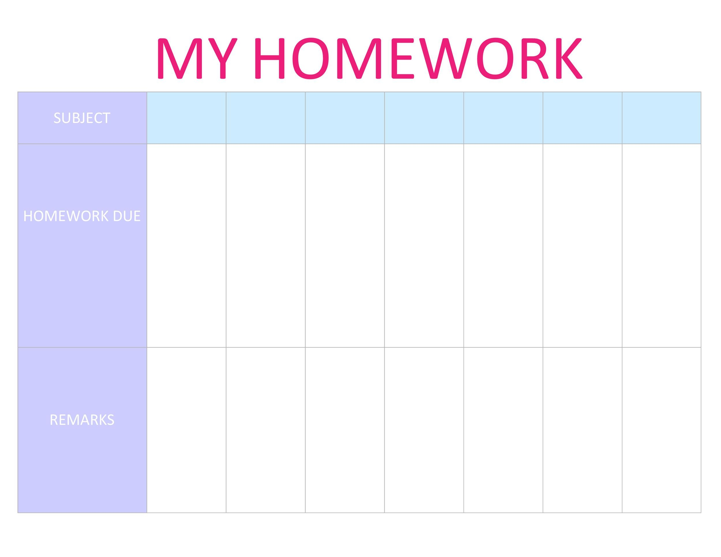 photograph relating to Homework Planner Printable identified as 37 Printable Research Planners (Simply the Great) ᐅ Template Lab