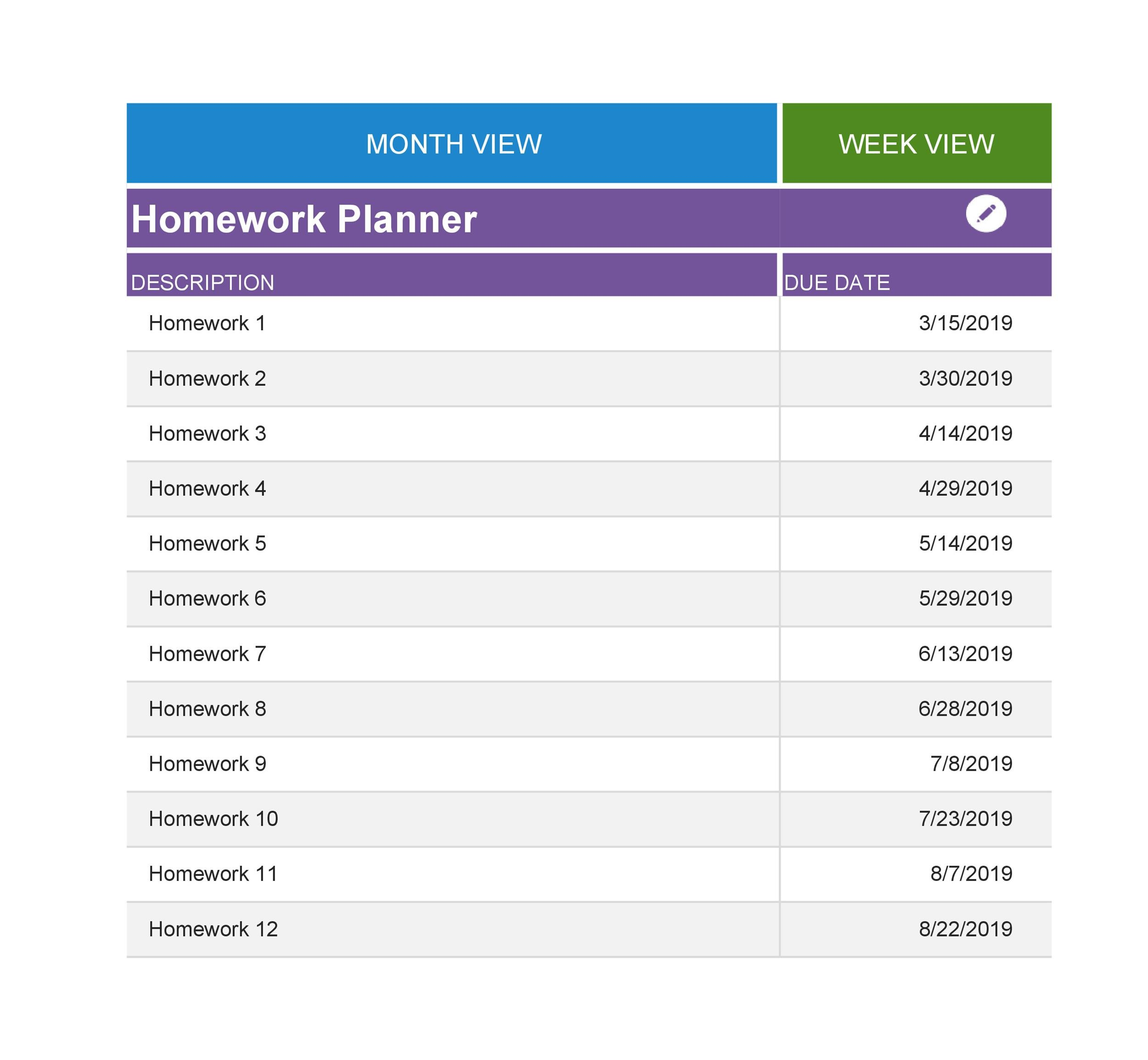 Free homework planner 26