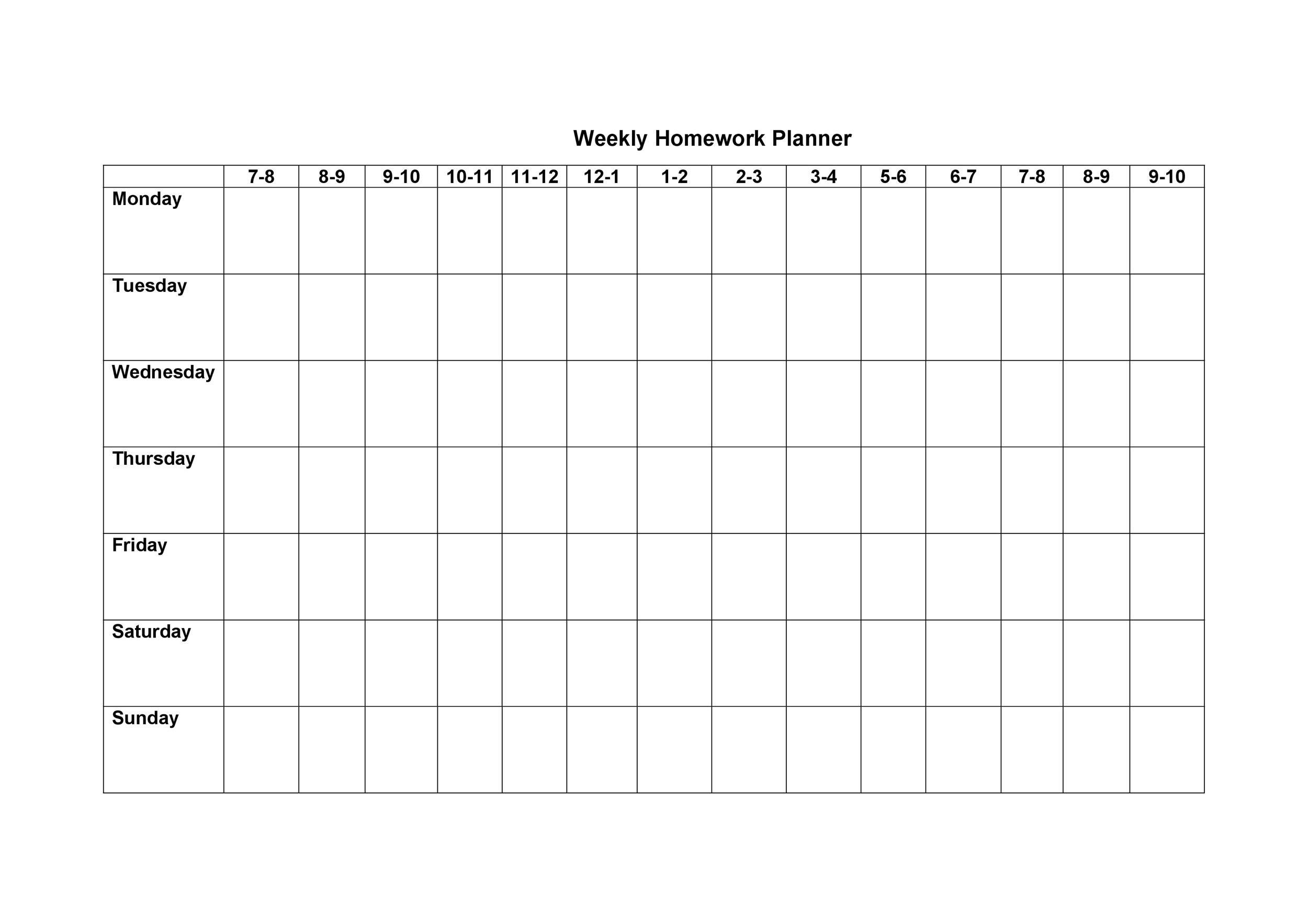 Free homework planner 28