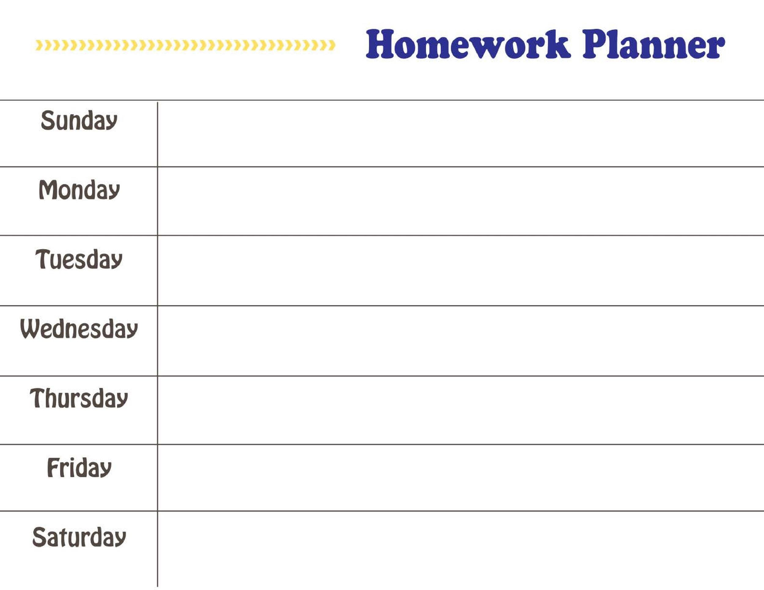 Free homework planner 36