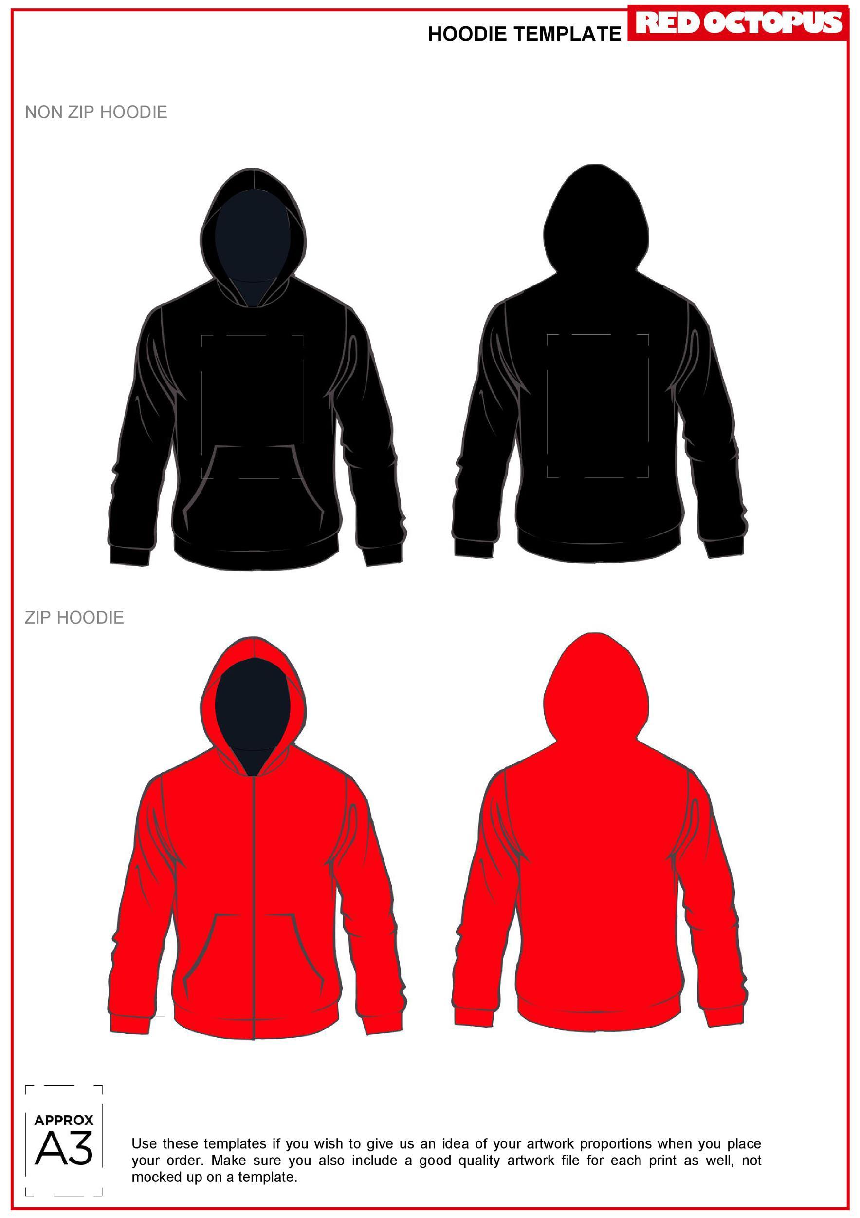 Free hoodie template 01